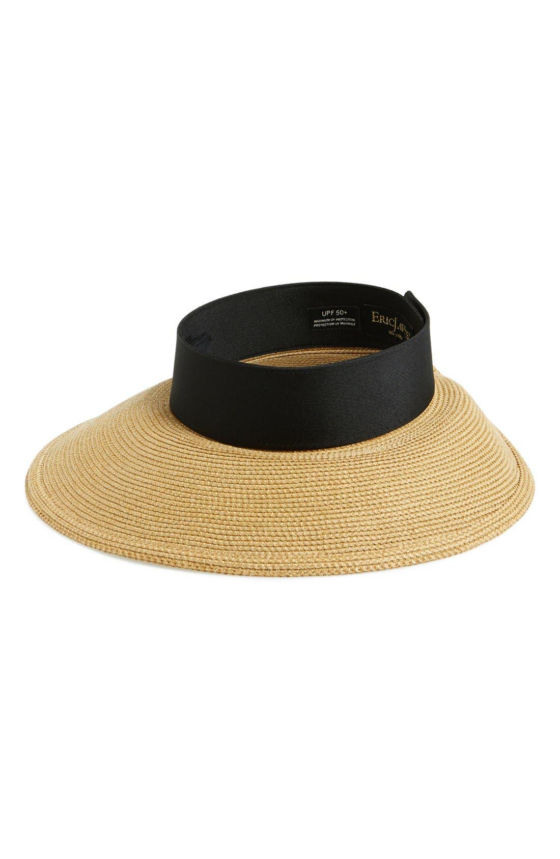 ERIC JAVITS 'Squishee<sup>®</sup> Halo' Hat, Main, color, NATURAL/ BLACK