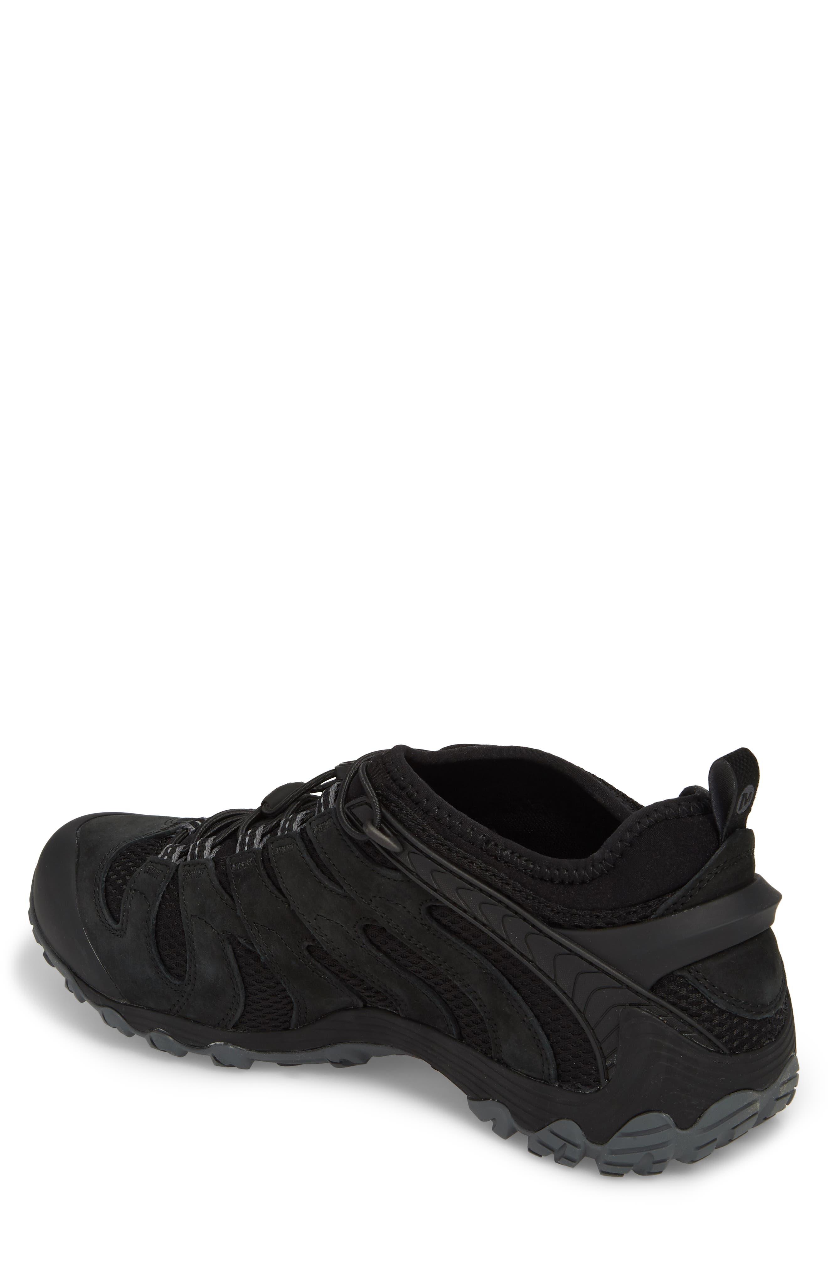 MERRELL, Chameleon 7 Stretch Hiking Shoe, Alternate thumbnail 2, color, BLACK