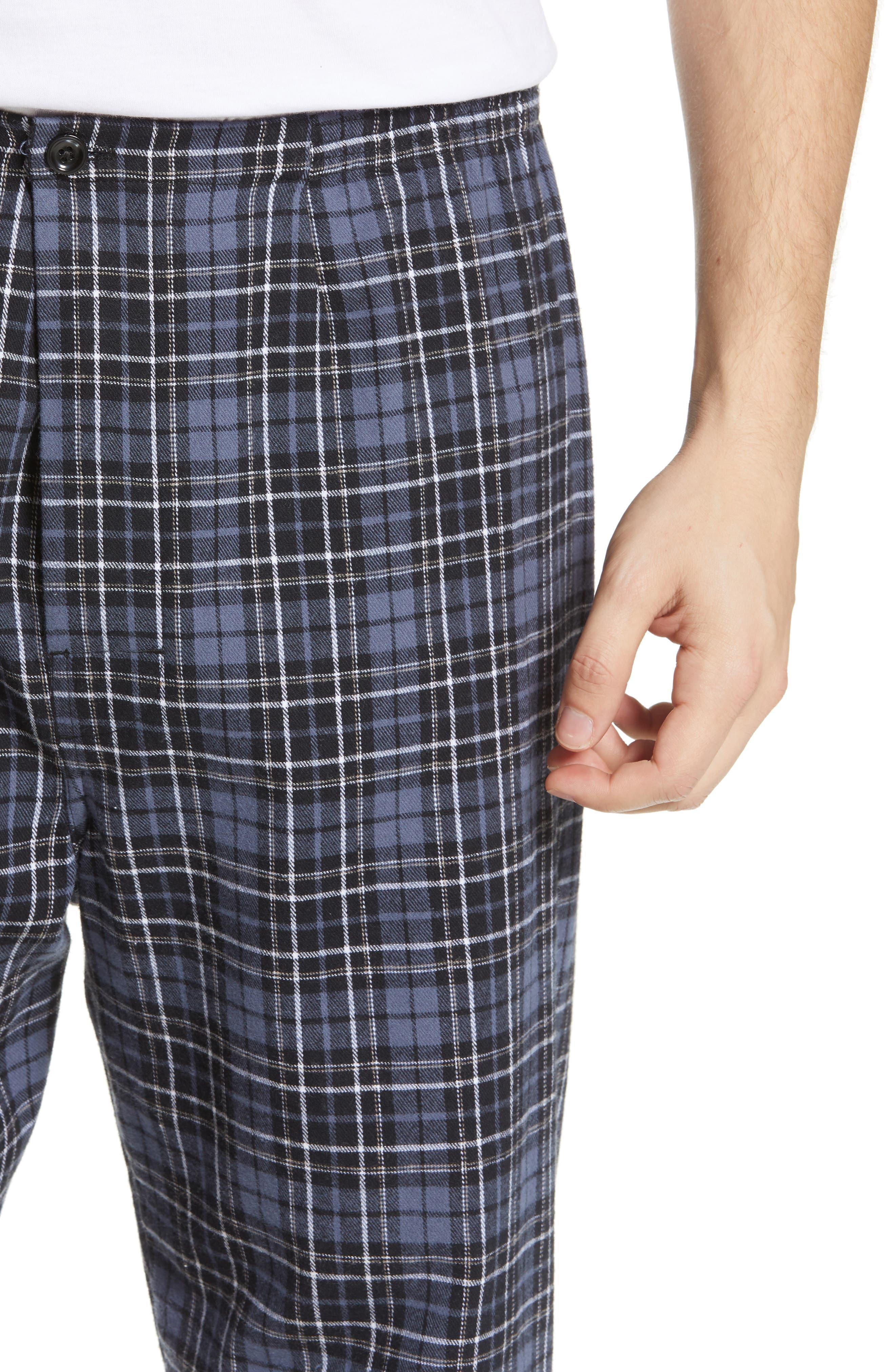 MAJESTIC INTERNATIONAL, True Match Flannel Pajamas, Alternate thumbnail 4, color, 001