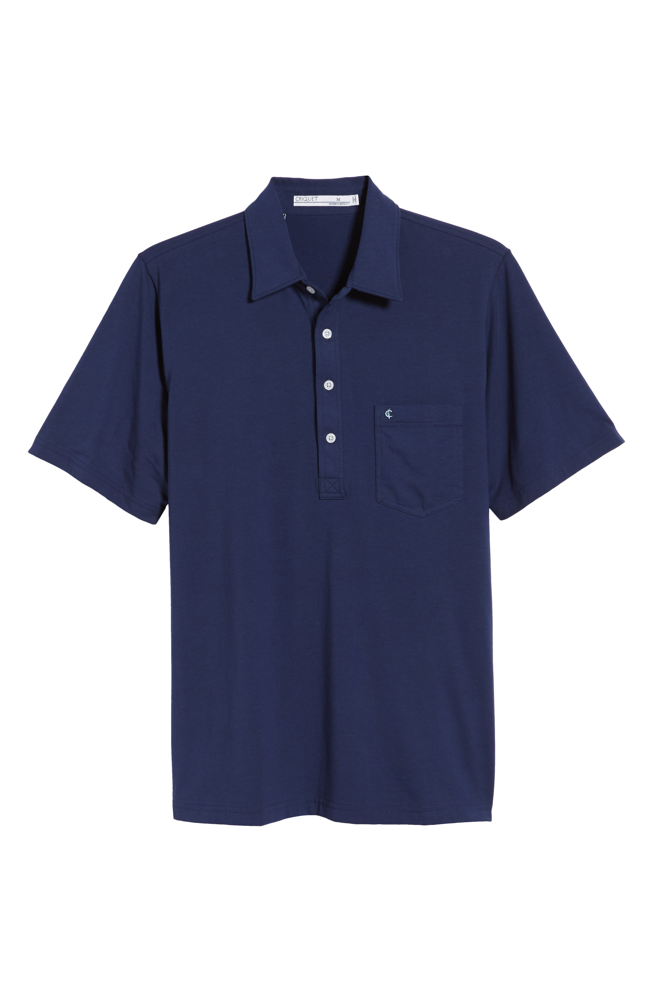 CRIQUET, Players Stretch Jersey Polo, Alternate thumbnail 6, color, NAVY