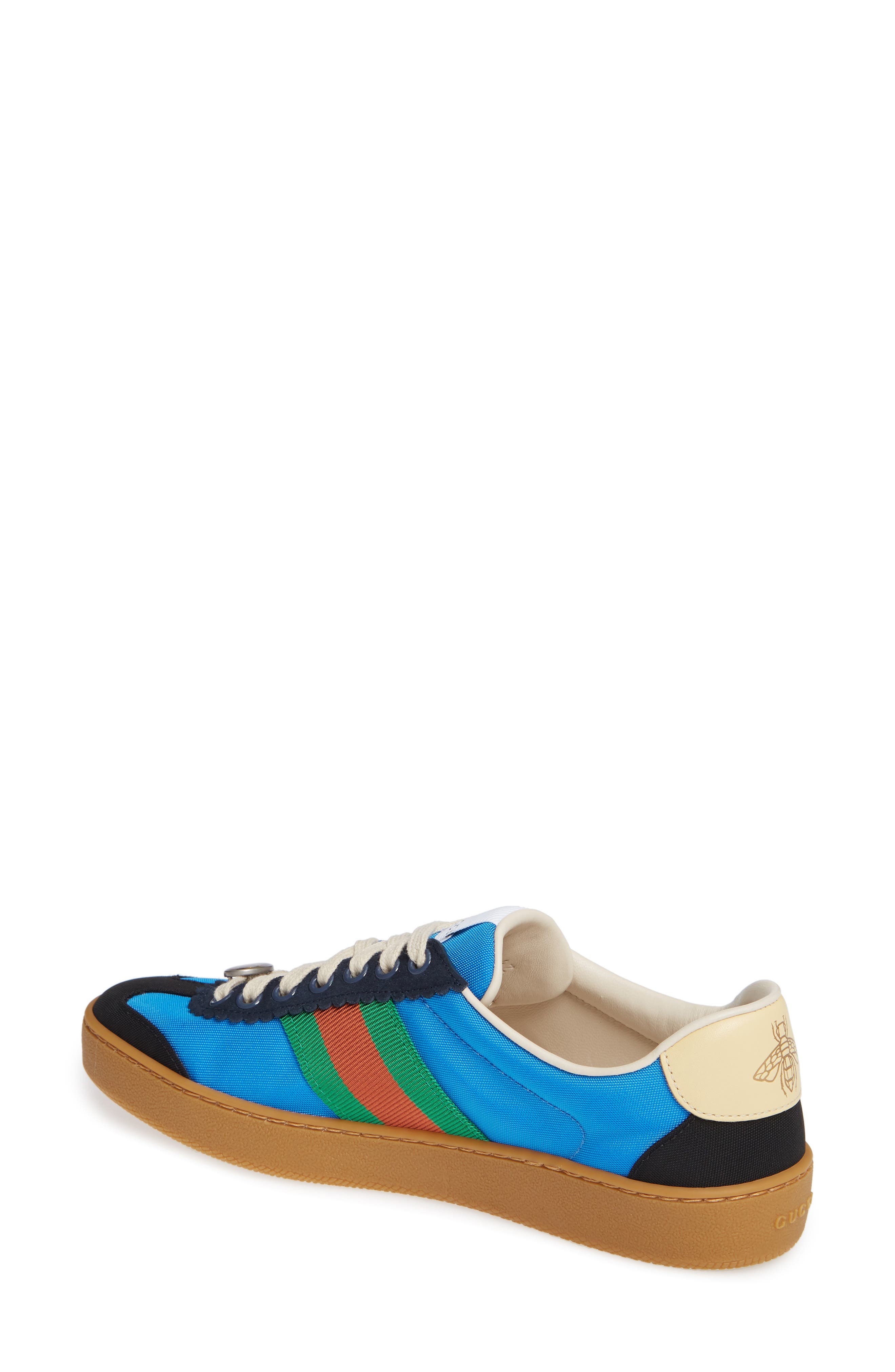 GUCCI, G74 Low Top Sneaker, Alternate thumbnail 2, color, 400