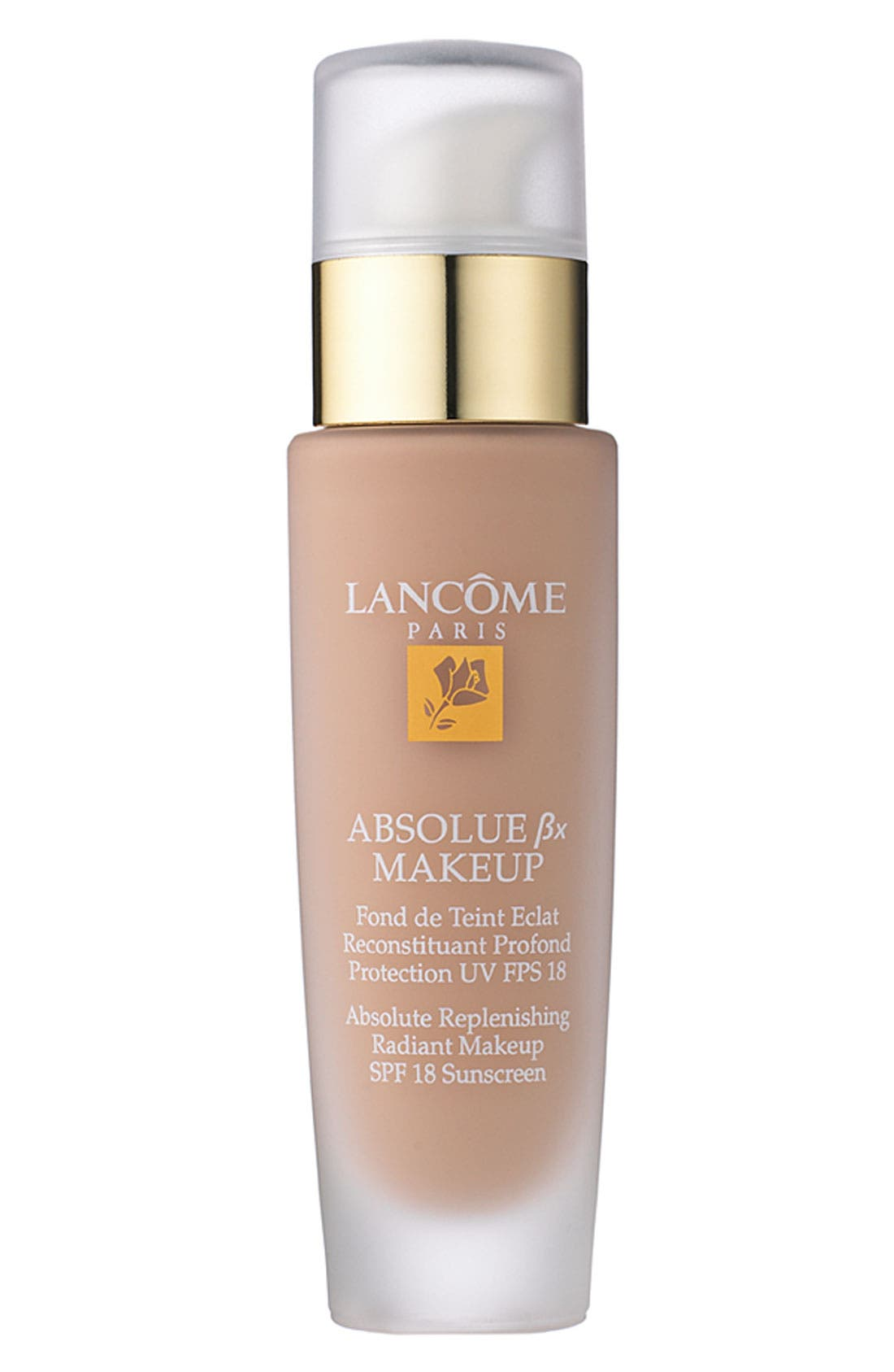 LANCÔME, Absolue Replenishing Radiant Makeup SPF 18 Sunscreen, Main thumbnail 1, color, ABSOLUTE ALMOND 310 (C)