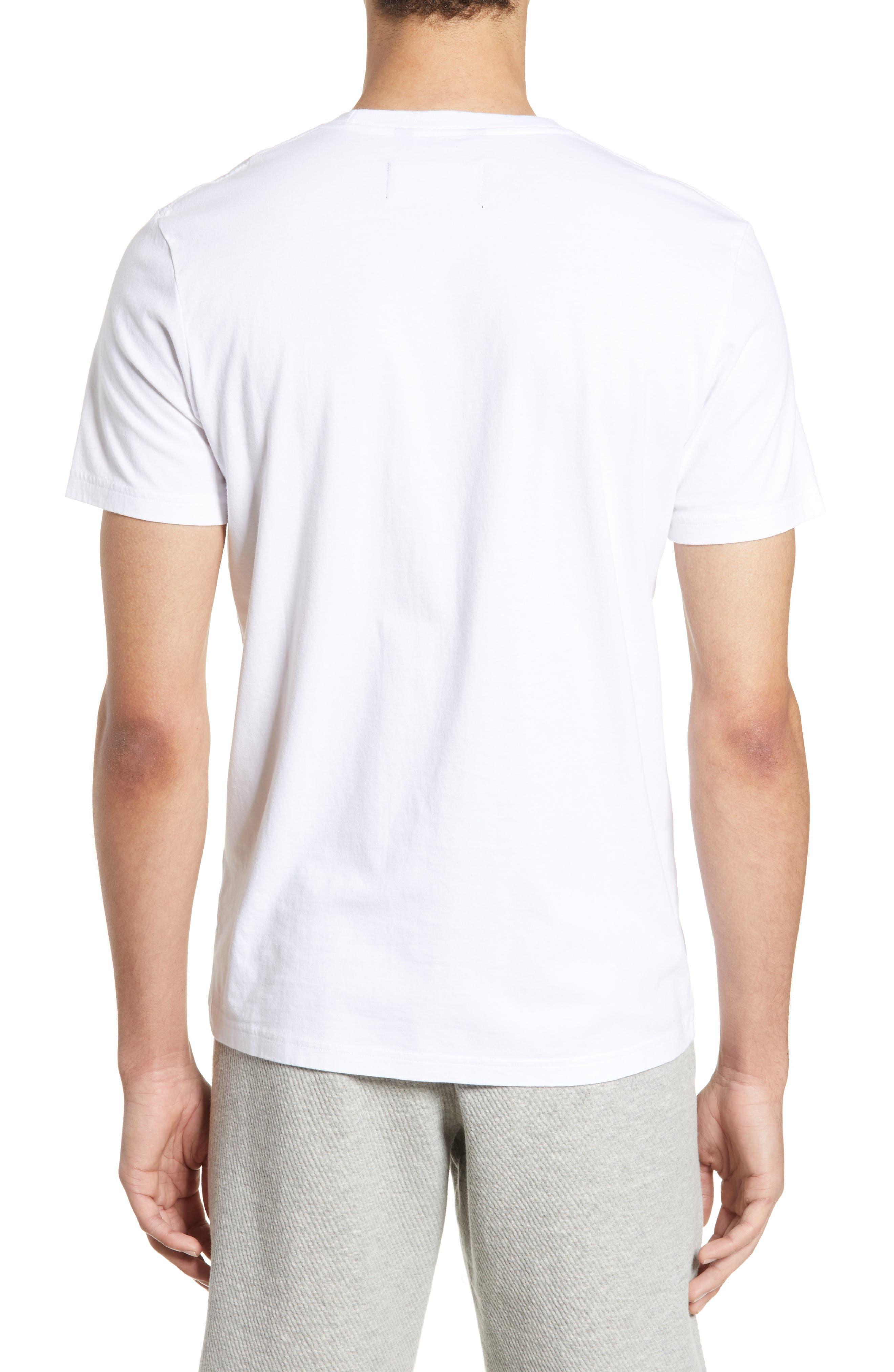 WINGS + HORNS, Short Sleeve Crewneck T-Shirt, Alternate thumbnail 2, color, WHITE