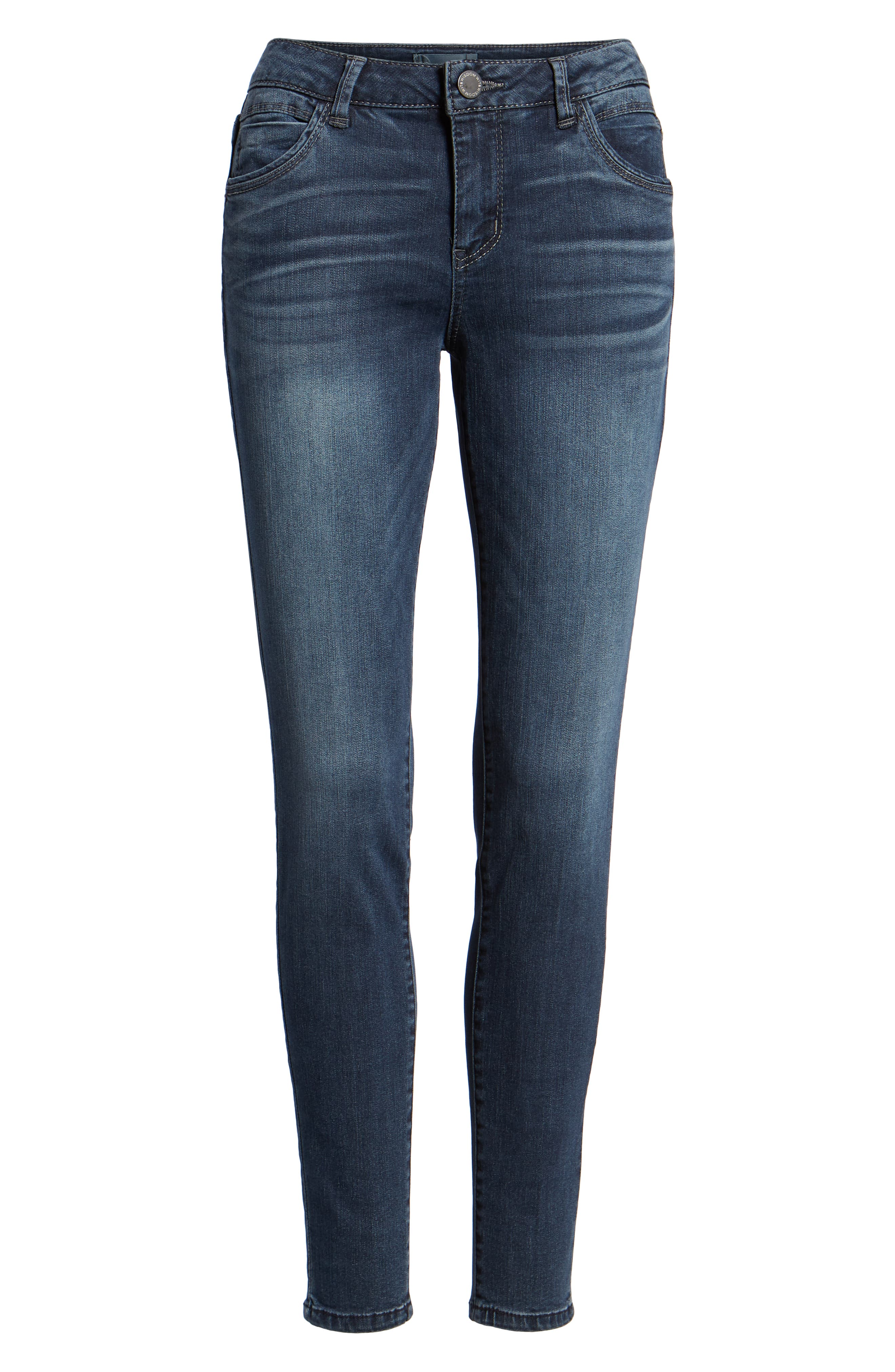 WIT & WISDOM, Contemporary Skinny Jeans, Alternate thumbnail 7, color, 402
