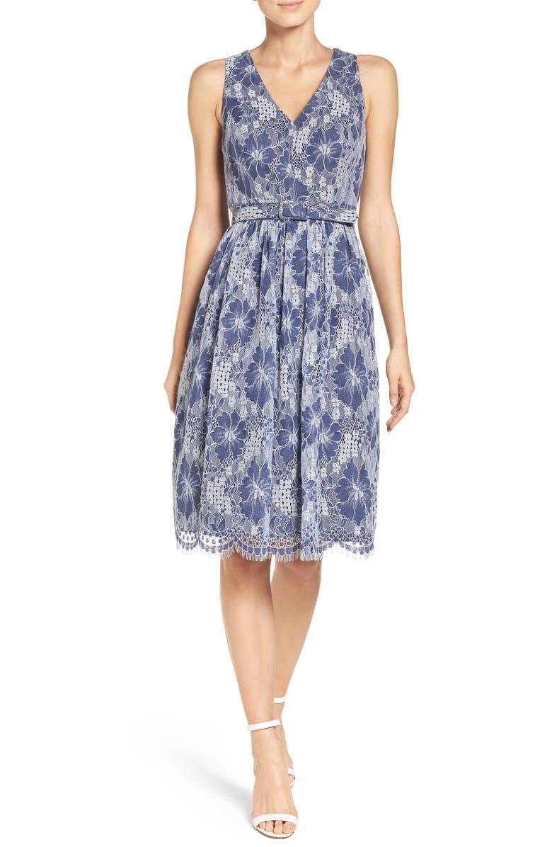 66dee45c797 ELIZA J Lace Fit & Flare Dress, Main, color, ...