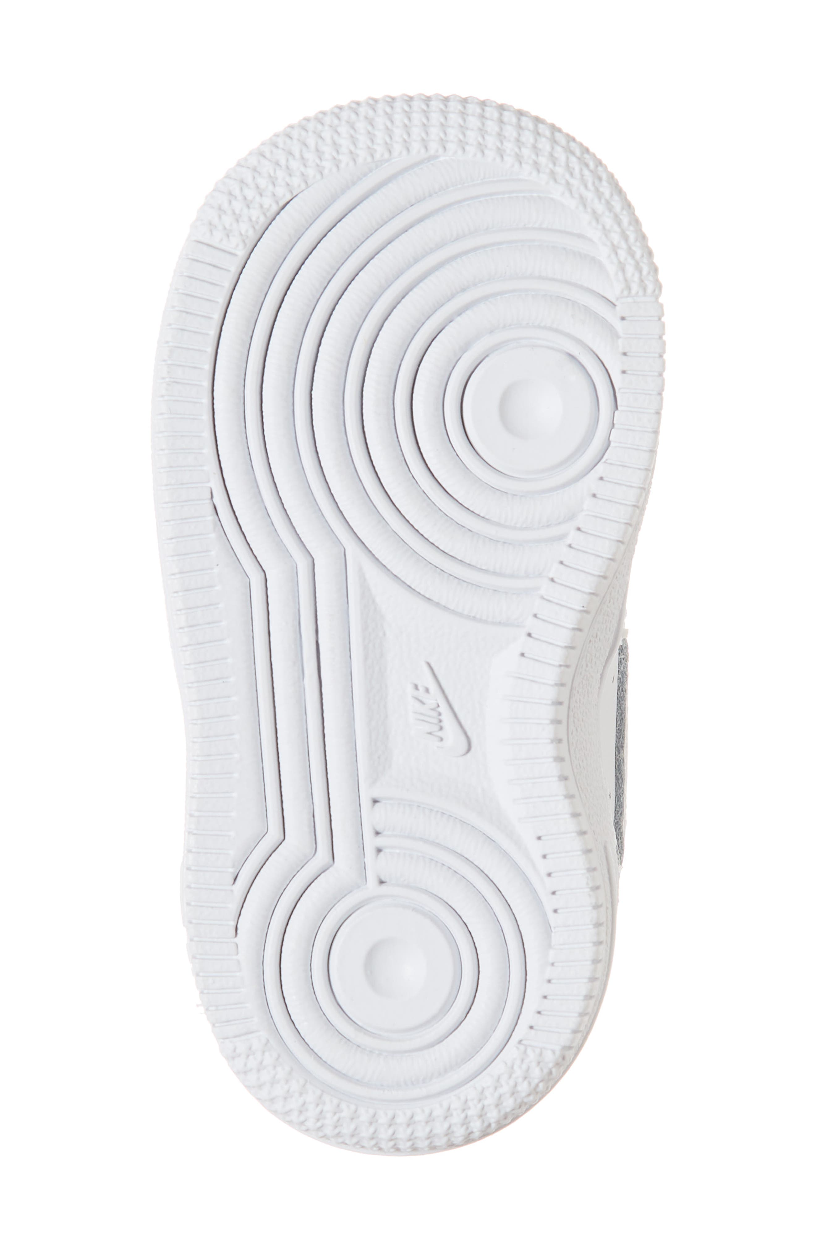 NIKE, Air Force 1 Sneaker, Alternate thumbnail 6, color, WHITE