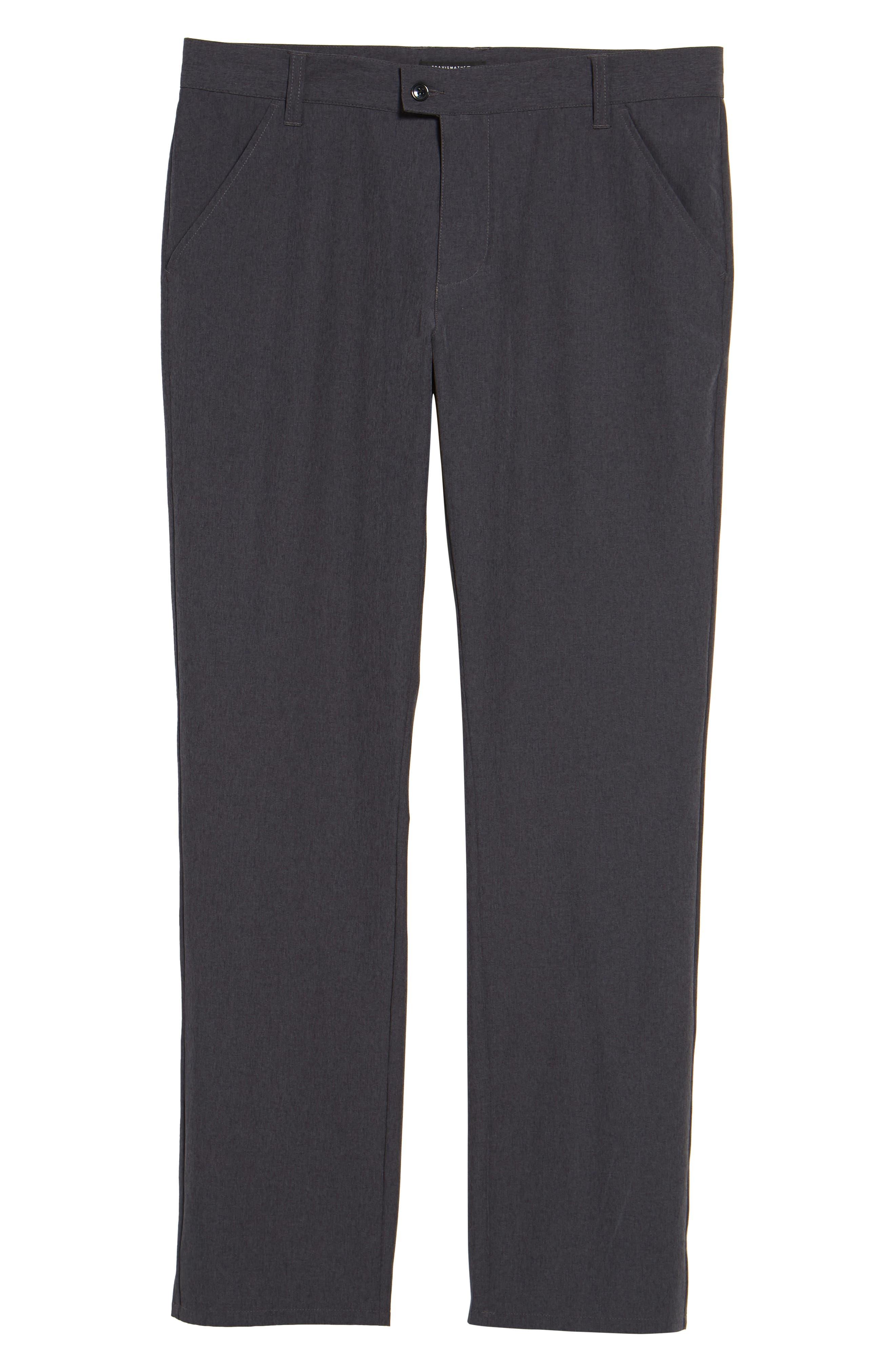 TRAVISMATHEW, Pantladdium Pants, Alternate thumbnail 6, color, HEATHER BLACK
