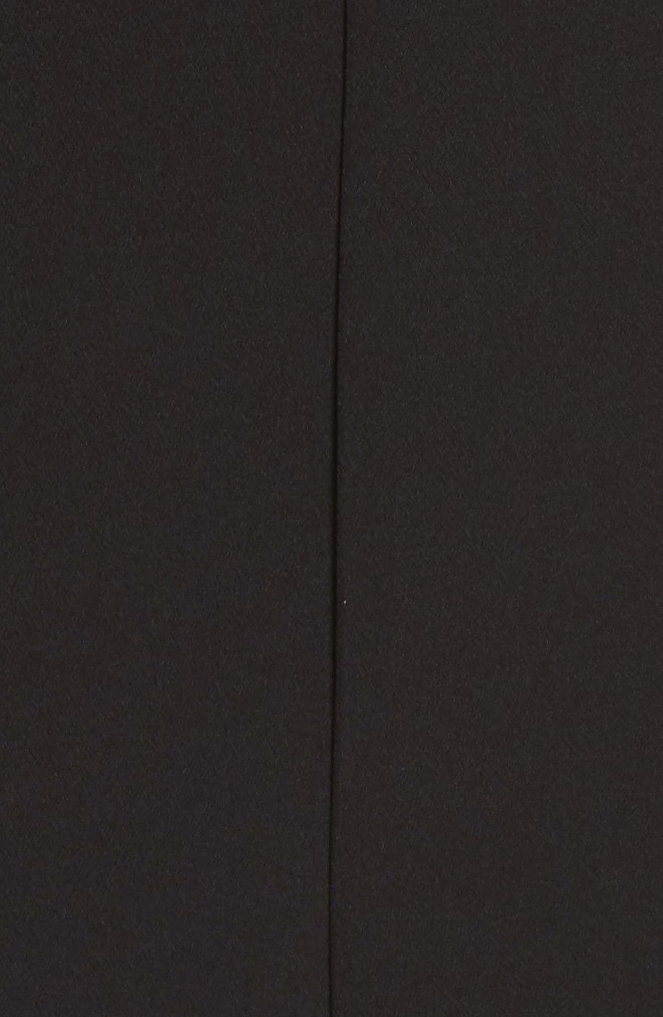 ELIZA J, Asymmetrical Neckline Jumpsuit, Alternate thumbnail 6, color, BLACK