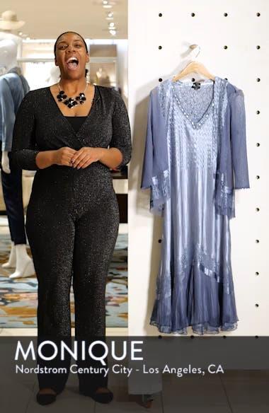 Embellished Lace Trim Charmeuse Dress & Jacket, sales video thumbnail