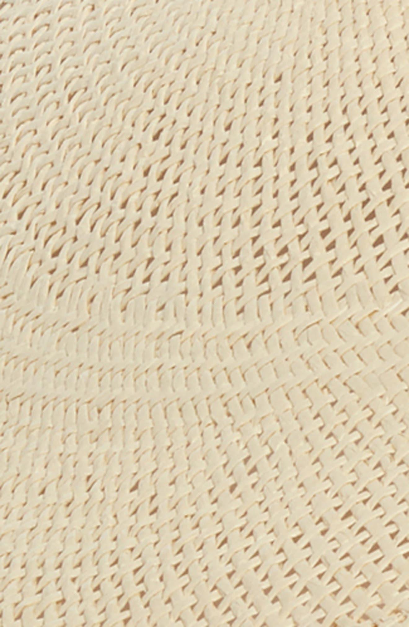 RACHEL PARCELL, Large Brim Straw Hat, Alternate thumbnail 2, color, BEIGE LIGHT COMBO