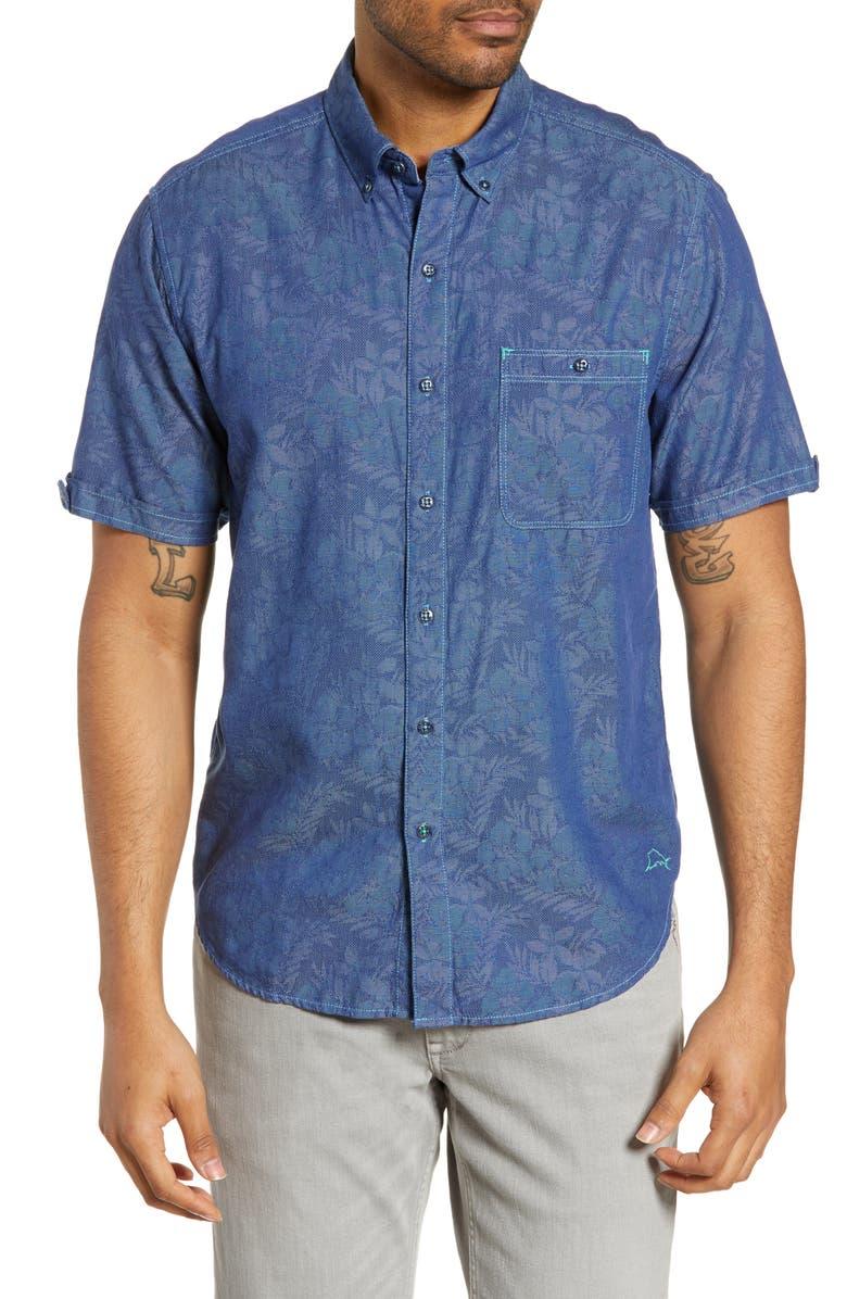 Tommy Bahama T-shirts Moana Fronds Woven Shirt