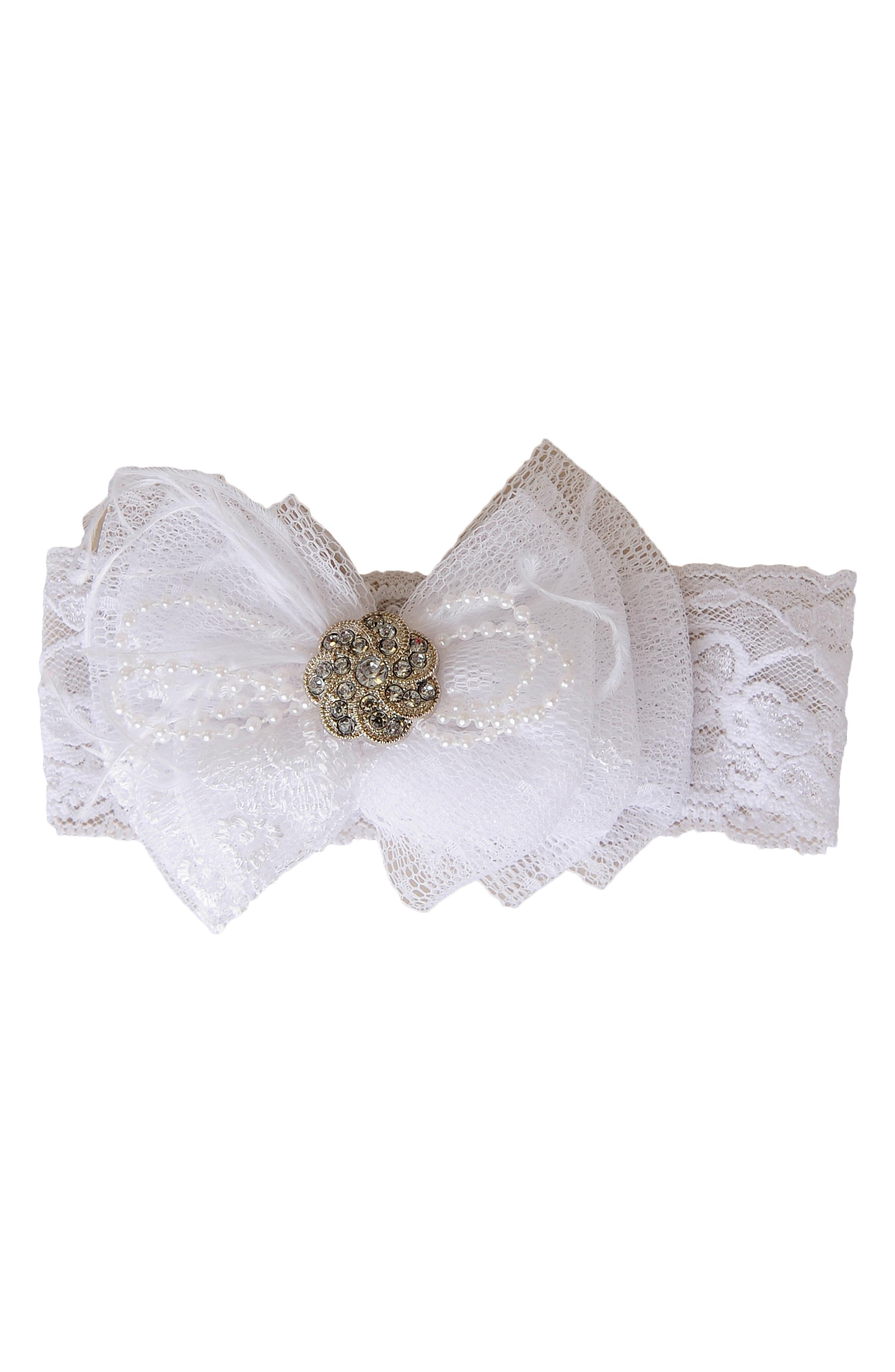 LITTLE THINGS MEAN A LOT, Christening Gown, Shawl, Slip & Bonnet Set, Alternate thumbnail 3, color, WHITE