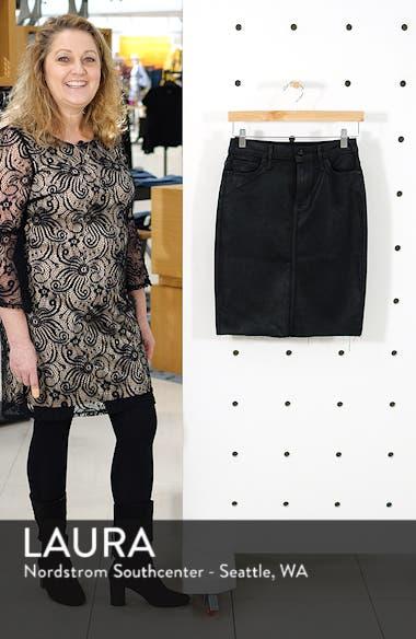 5ee0fb2e8 Sam Edelman Riley Coated Denim Skirt