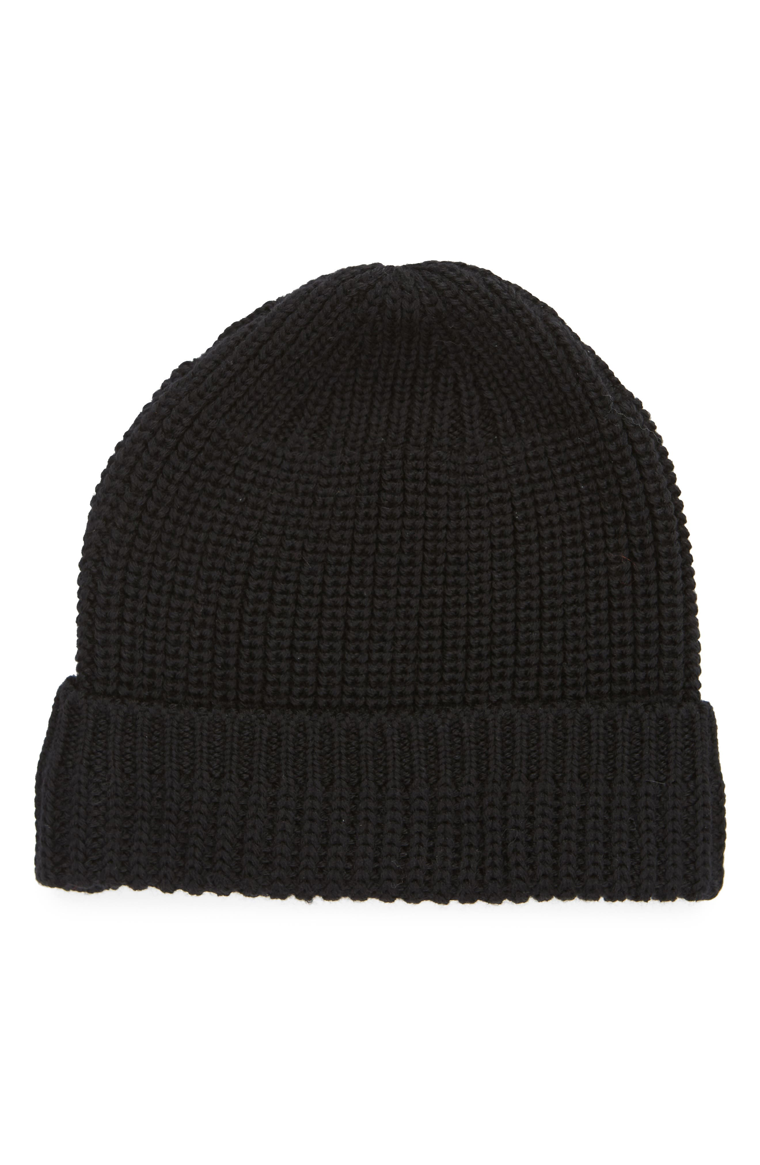 WINGS + HORNS, Knit Wool Beanie, Main thumbnail 1, color, 001