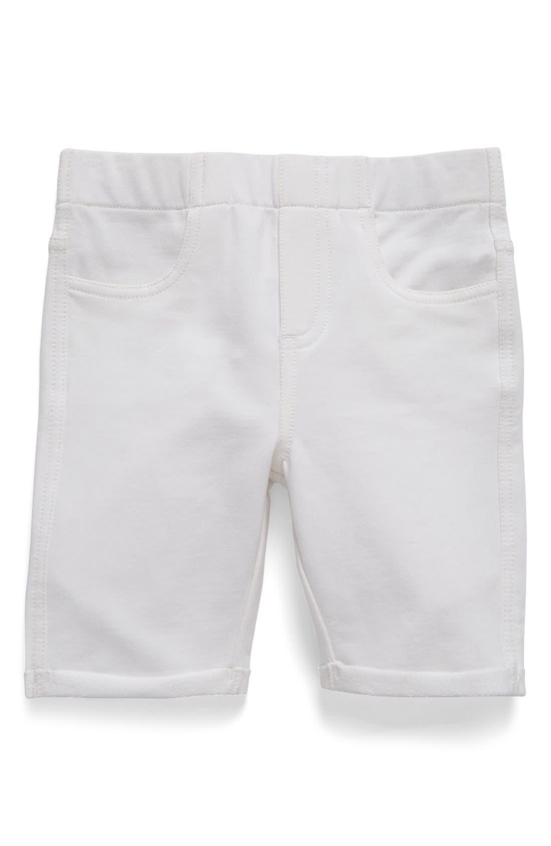 TUCKER + TATE, 'Jenna' Jegging Shorts, Main thumbnail 1, color, WHITE