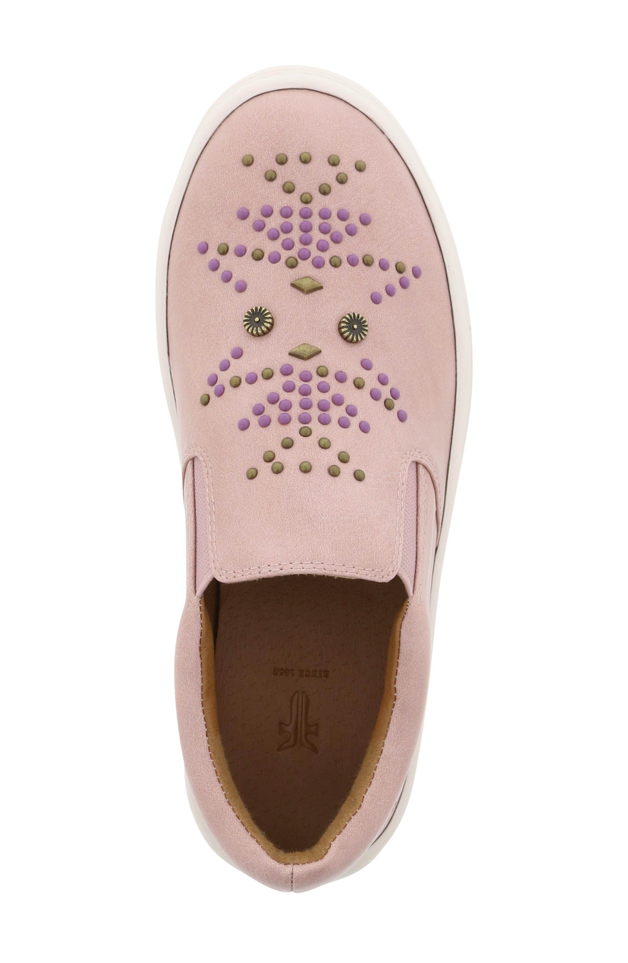 FRYE, Lena Studded Sneaker, Alternate thumbnail 5, color, 686