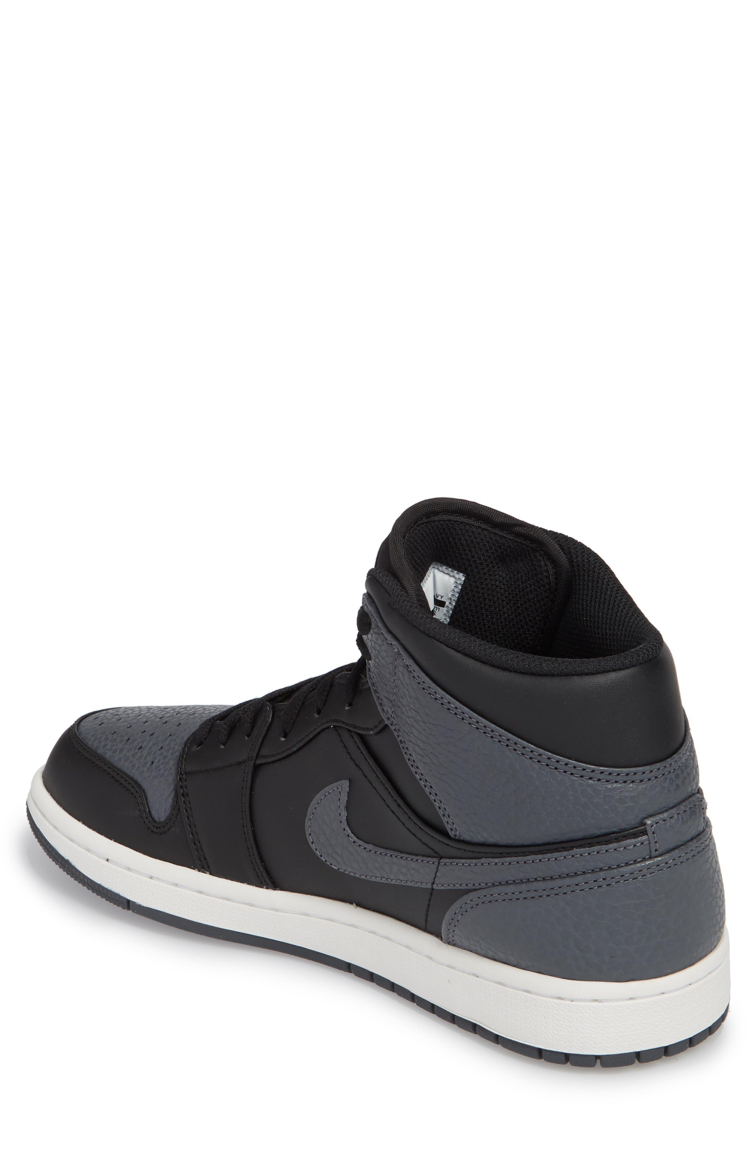 NIKE, 'Air Jordan 1 Mid' Sneaker, Alternate thumbnail 2, color, 001