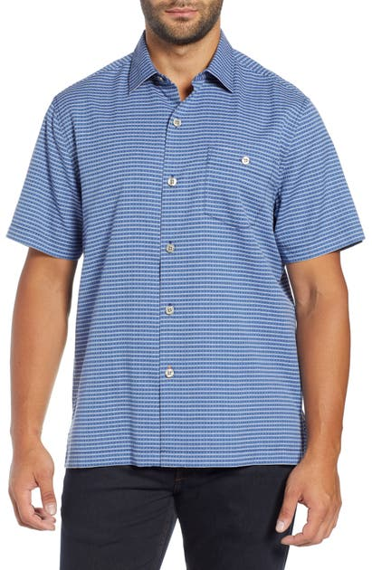 Tommy Bahama T-shirts CHECK-IN-THE-TROPICS SILK BLEND CAMP SHIRT