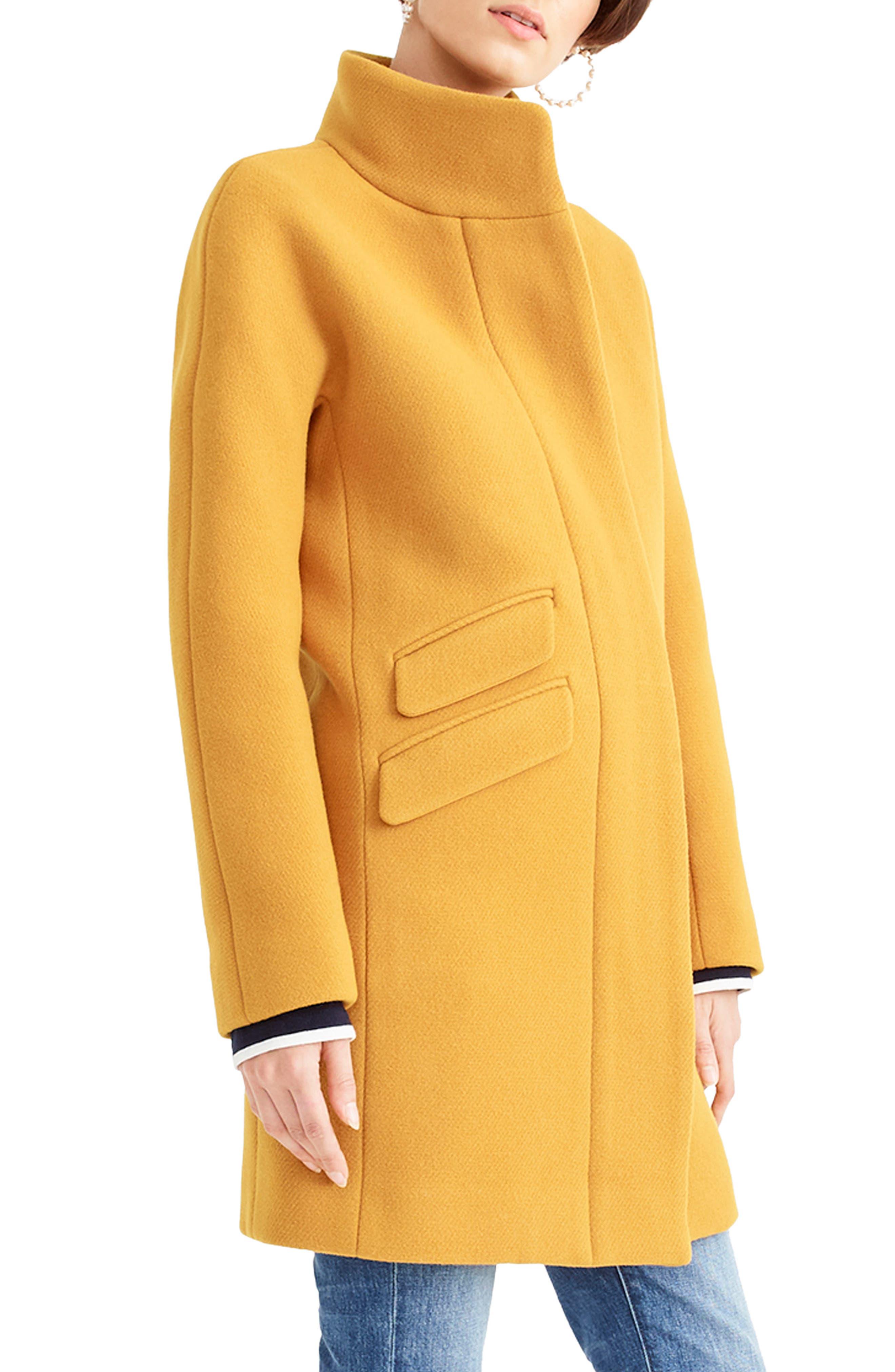 J.CREW, Stadium Cloth Cocoon Coat, Alternate thumbnail 4, color, 800