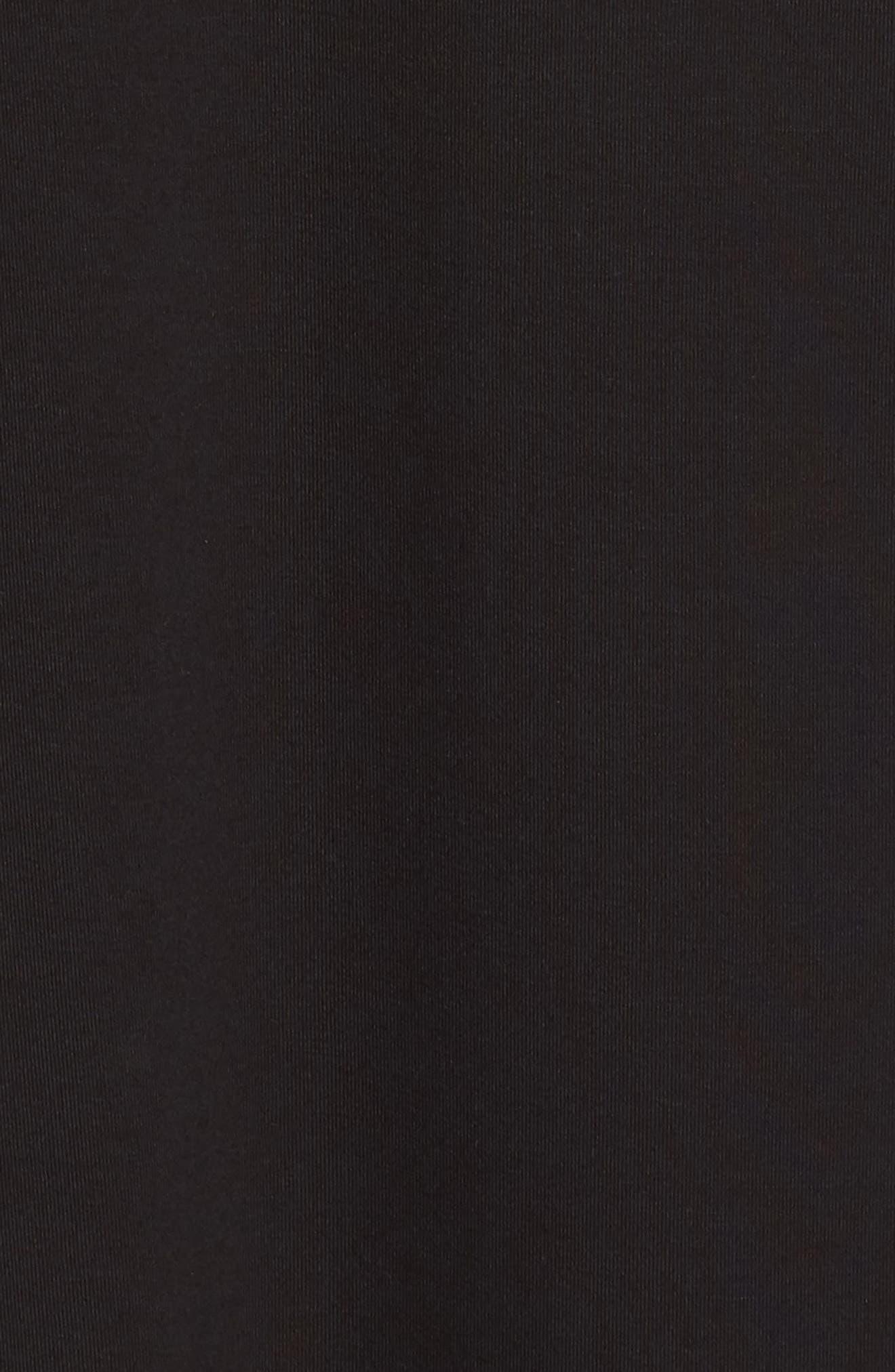 NATORI, Feathers Essential Sleep Shirt, Alternate thumbnail 5, color, BLACK