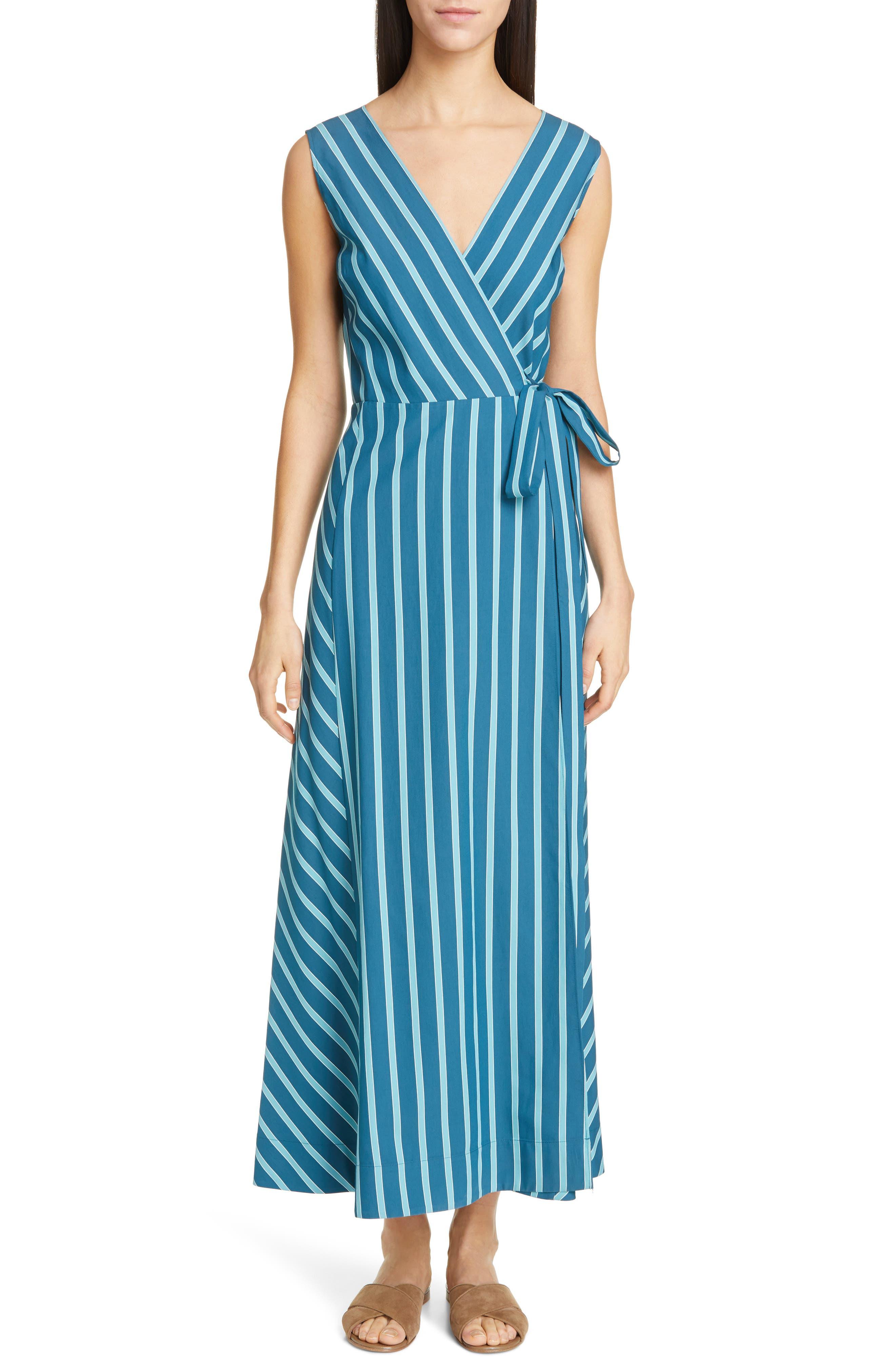 LAFAYETTE 148 NEW YORK, Siri Wrap Dress, Main thumbnail 1, color, PACIFIC MULTI