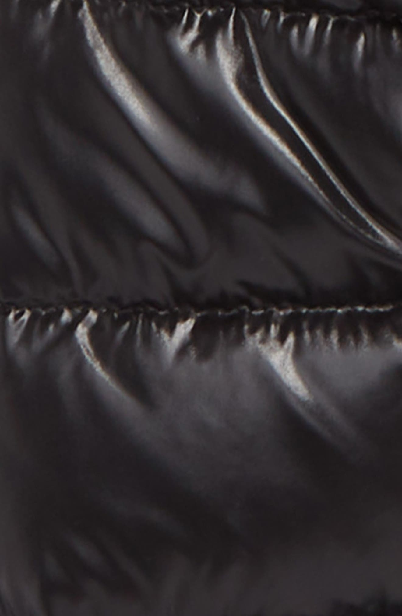 MONCLER, Bady Hooded Down Jacket, Alternate thumbnail 2, color, BLACK