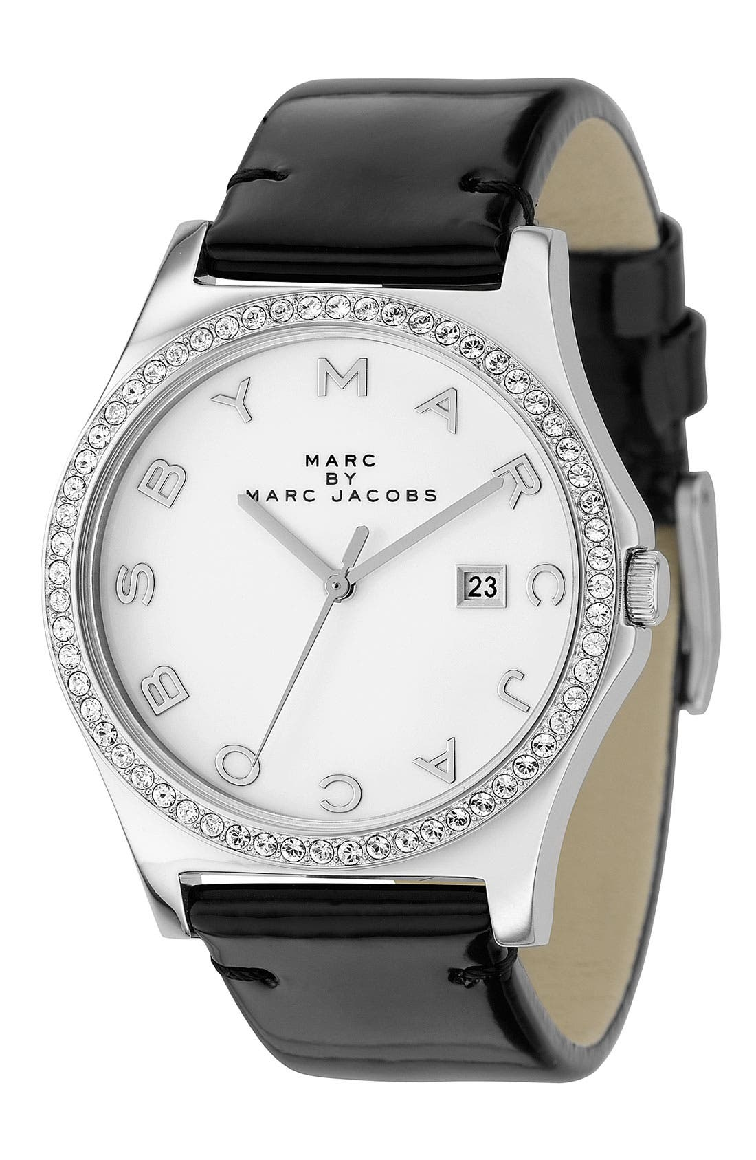 MARC JACOBS, 'Henry' Stainless Steel Watch, Main thumbnail 1, color, 001