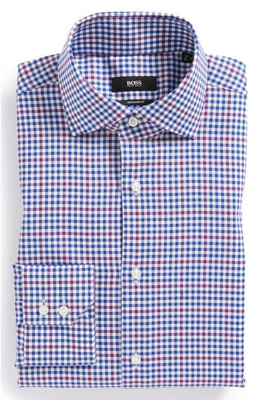 9b537b2c8 BOSS HUGO BOSS 'Gordon' WW Regular Fit Easy Iron Dress Shirt | Nordstrom