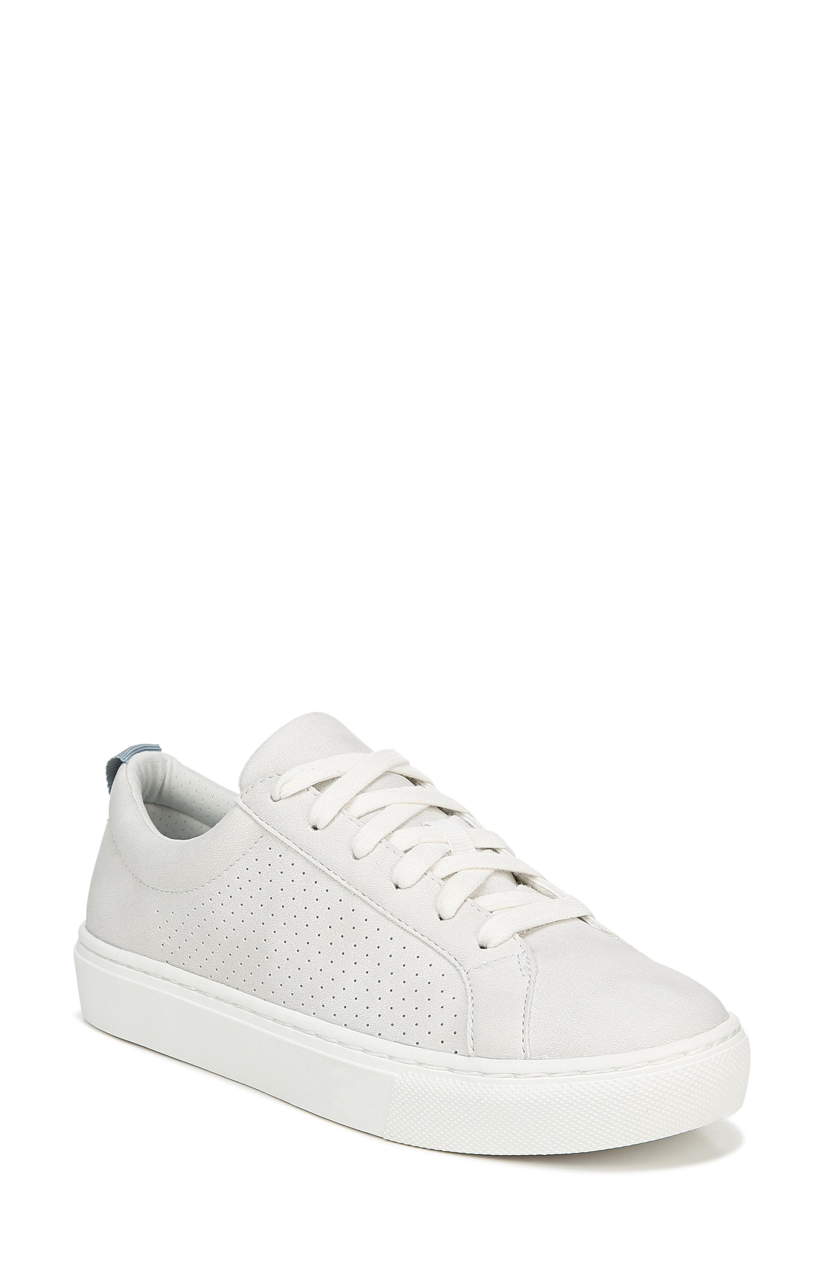DR. SCHOLL'S, No Bad Vibes Sneaker, Main thumbnail 1, color, WHITE FAUX LEATHER