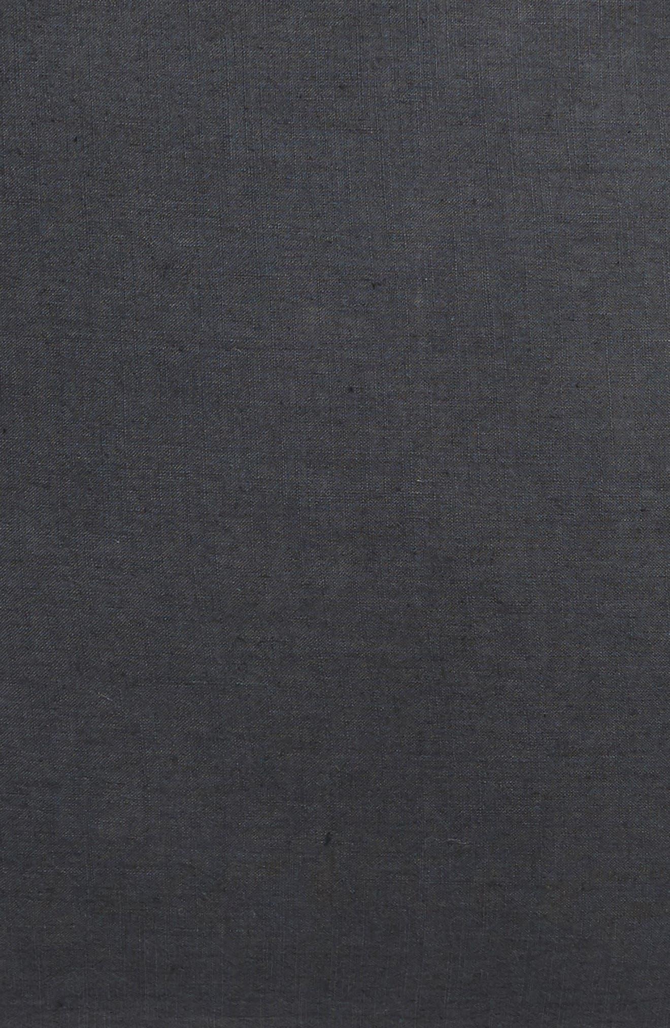 TREASURE & BOND, Relaxed Cotton & Linen Euro Sham, Alternate thumbnail 3, color, GREY ONYX