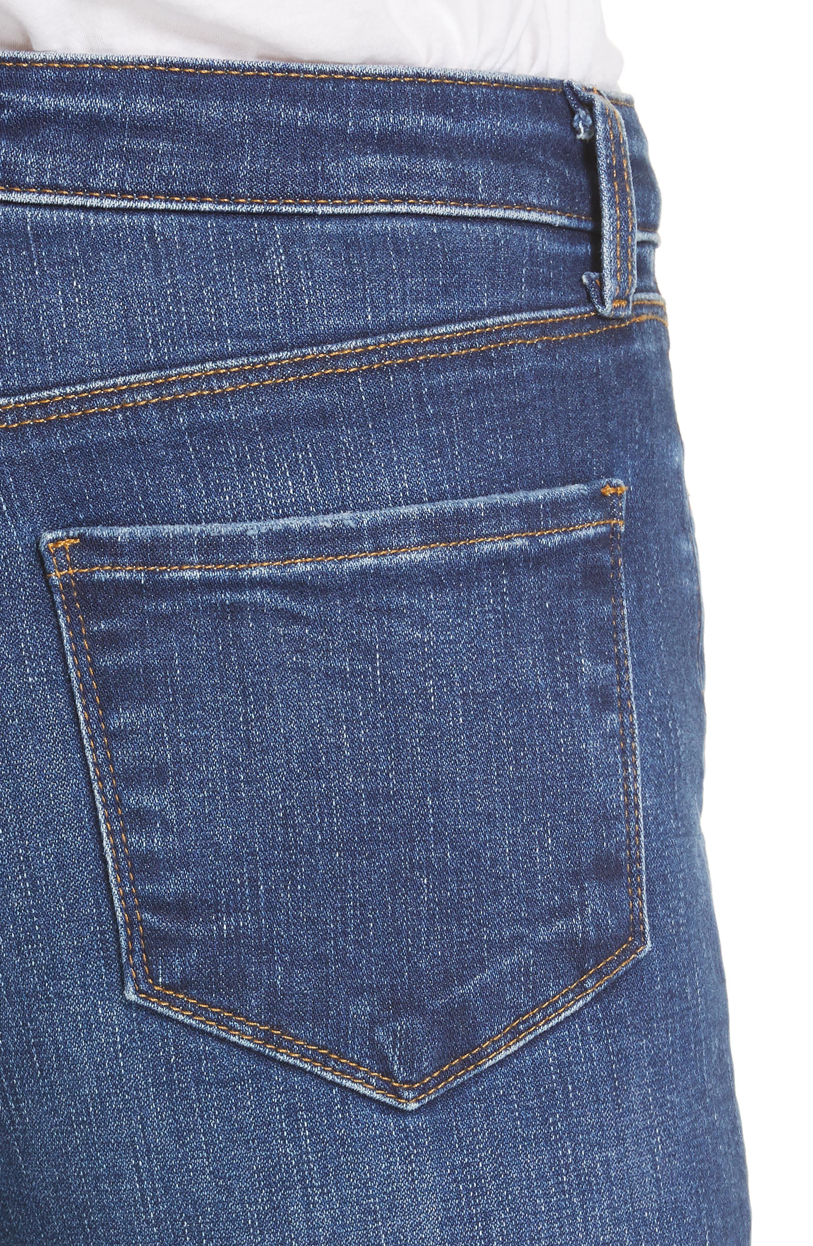 L'AGENCE, Margot Crop Skinny Jeans, Alternate thumbnail 5, color, TUSCAN