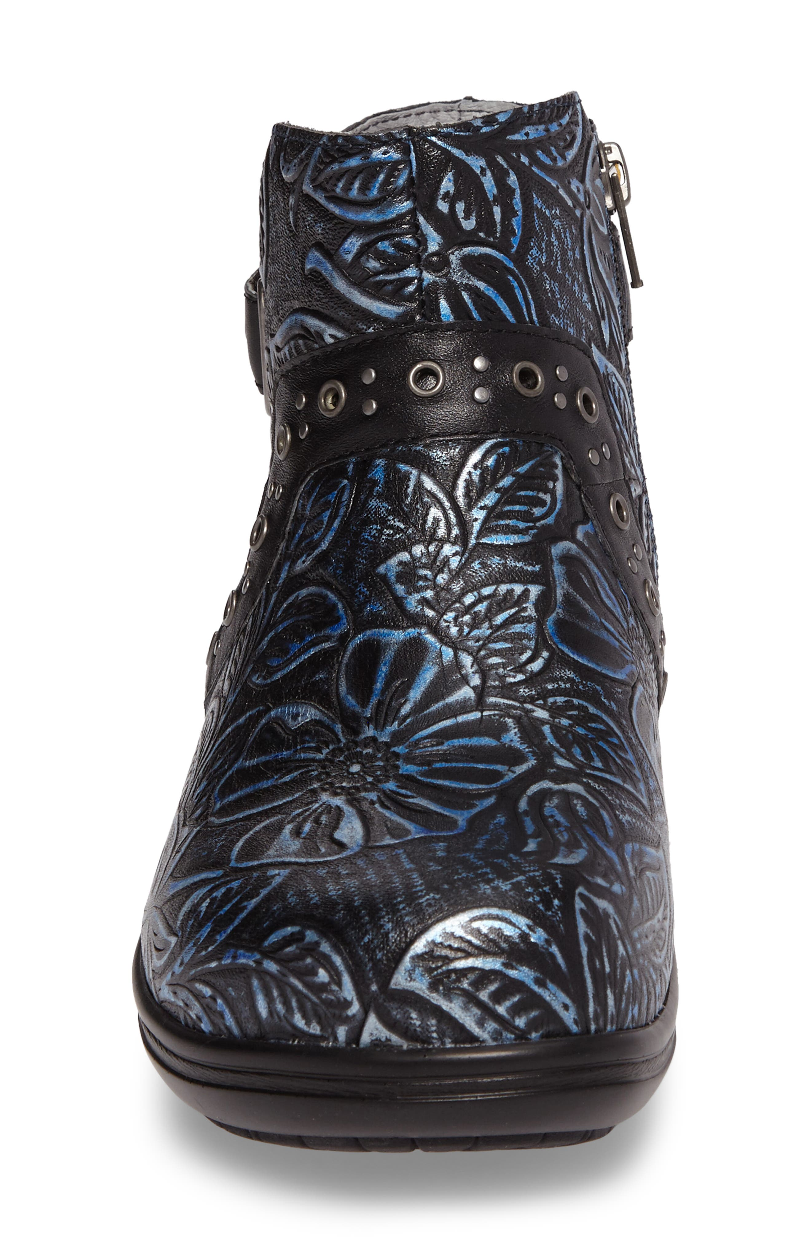 ALEGRIA, Zoey Ankle Boot, Alternate thumbnail 4, color, BLUE ROMANCE LEATHER
