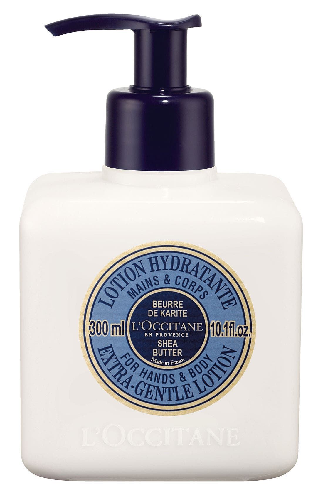 L'OCCITANE, Shea Butter Extra-Gentle Lotion for Hands and Body, Main thumbnail 1, color, NO COLOR