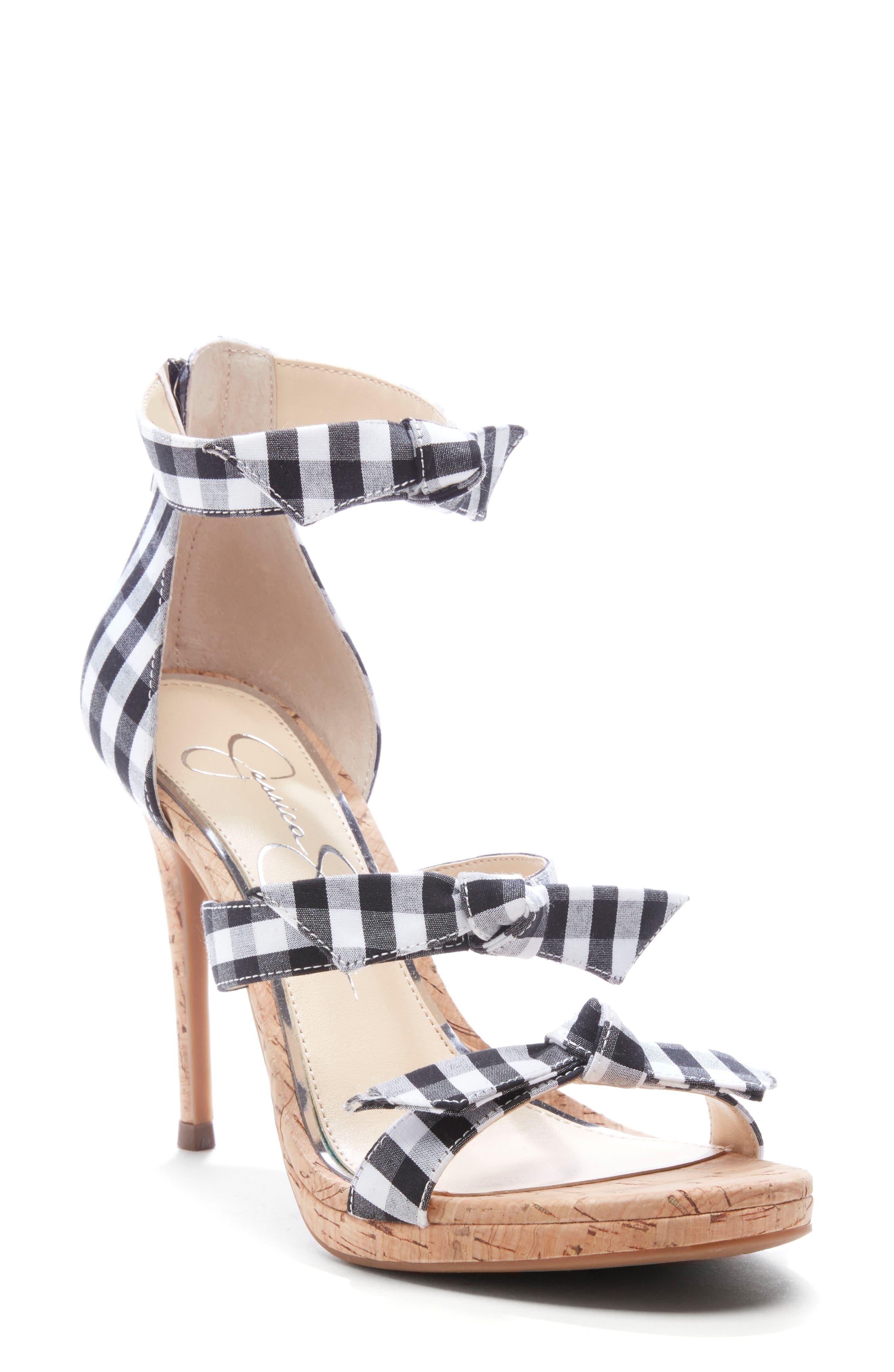 Jessica Simpson Kaycie Ankle Strap Sandal- Black