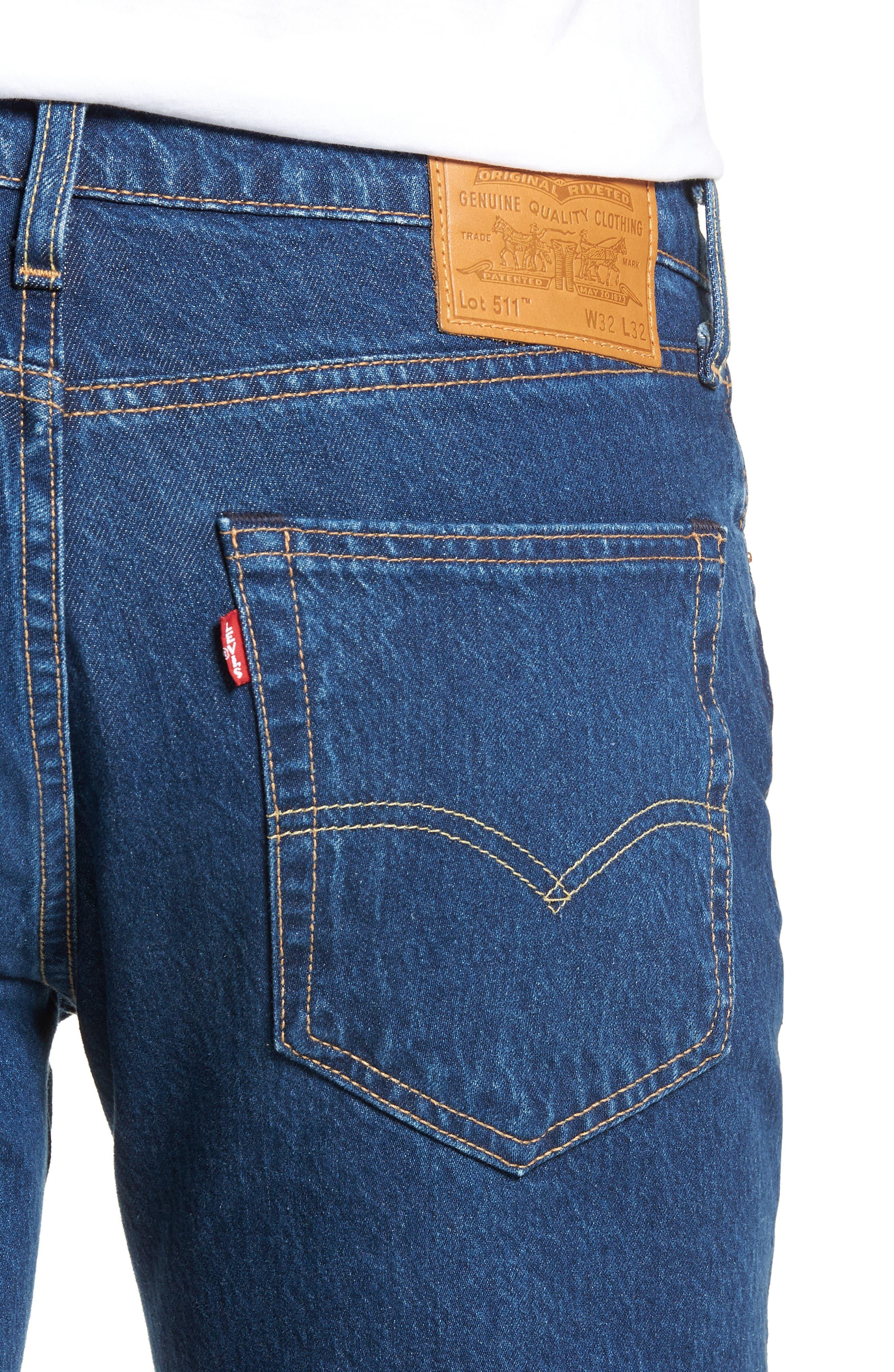 LEVI'S<SUP>®</SUP>, 511<sup>™</sup> Slim Fit Jeans, Alternate thumbnail 5, color, DANZA STONE
