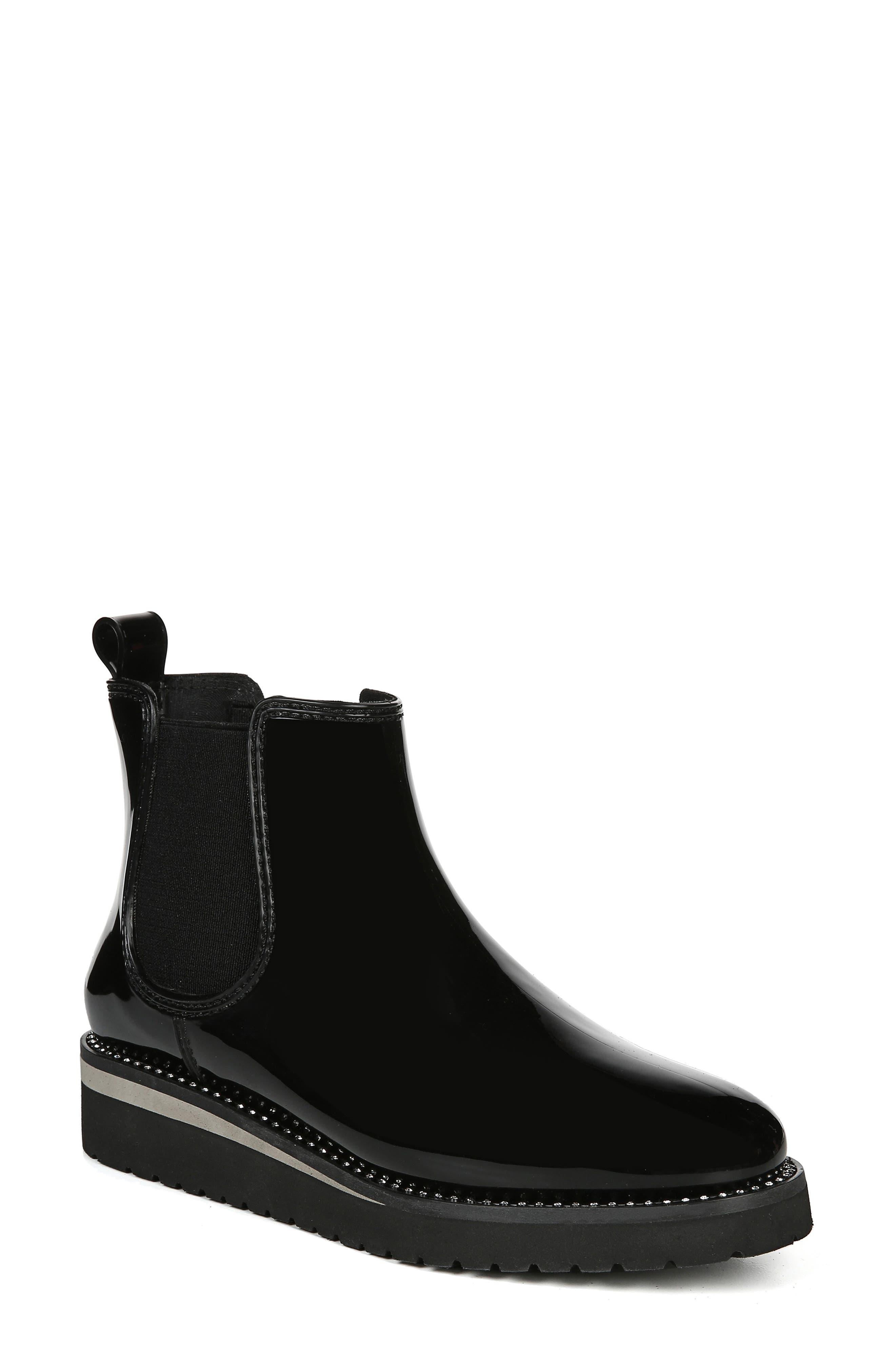 NATURALIZER Luna Waterproof Chelsea Boot, Main, color, BLACK