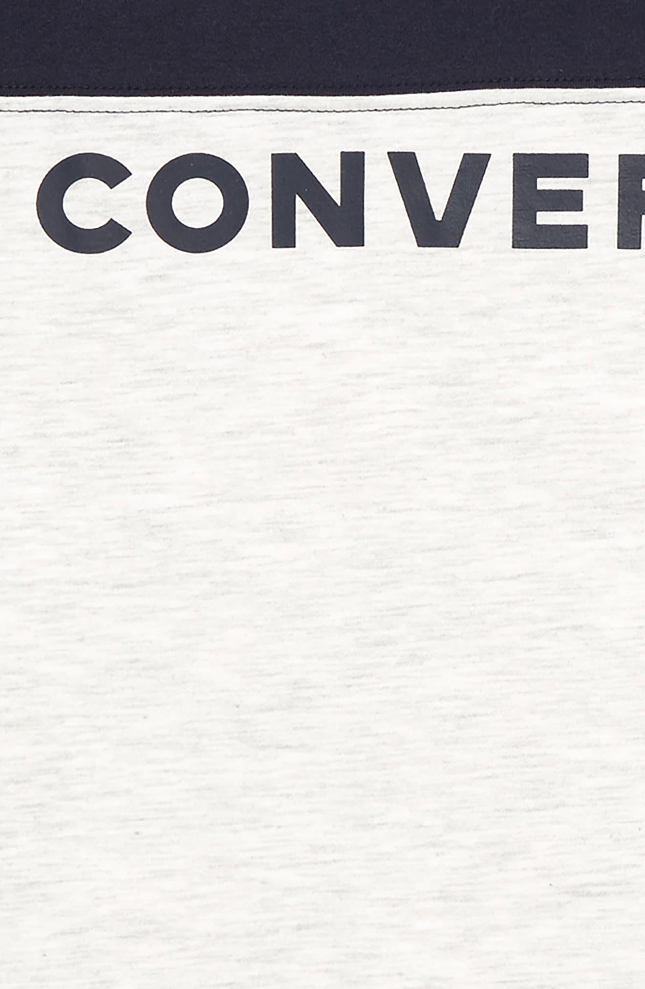 CONVERSE, Retro Graphic T-Shirt, Alternate thumbnail 2, color, BIRCH HEATHER