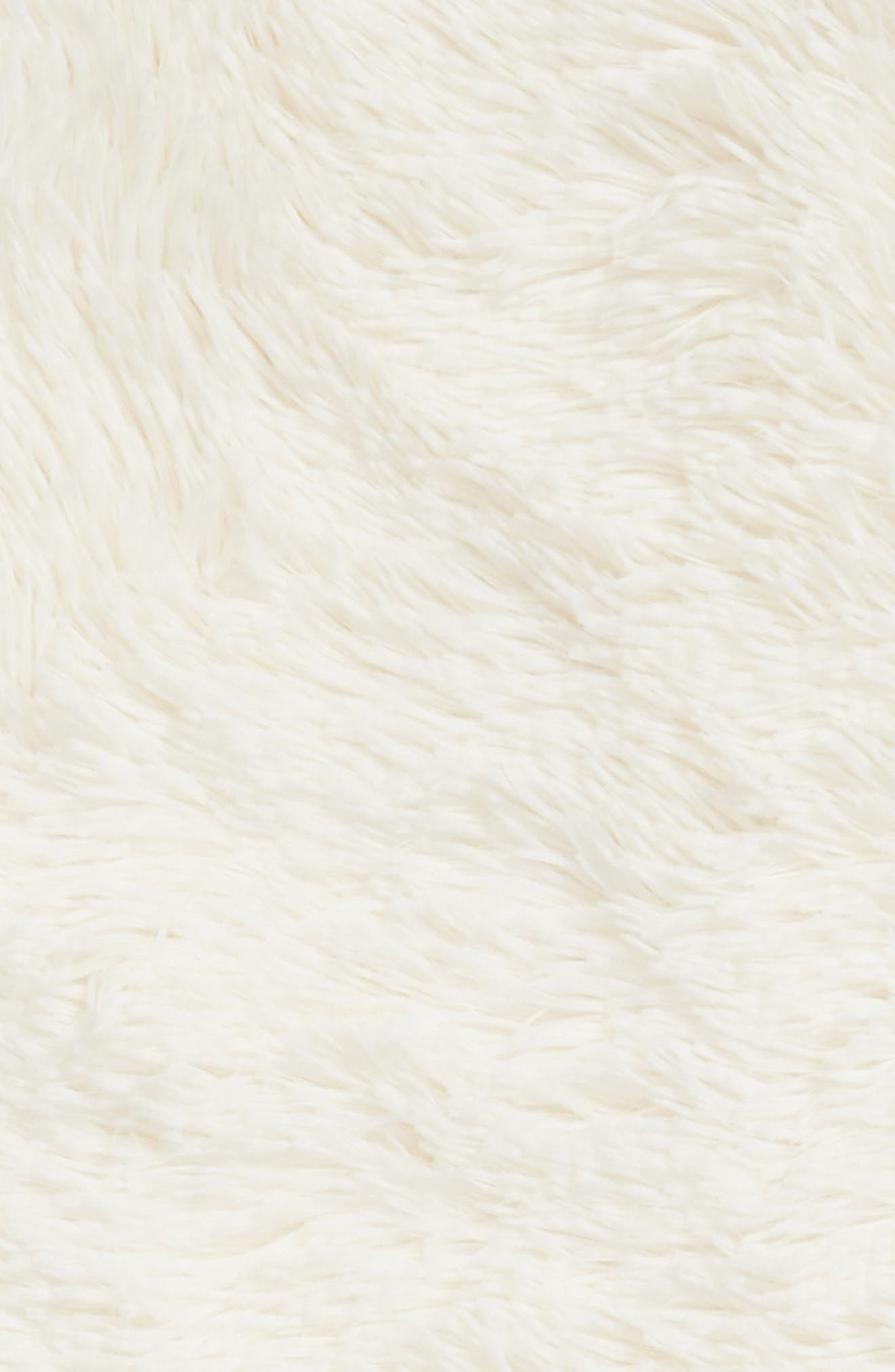 NORDSTROM AT HOME, Feather Throw, Alternate thumbnail 3, color, IVORY