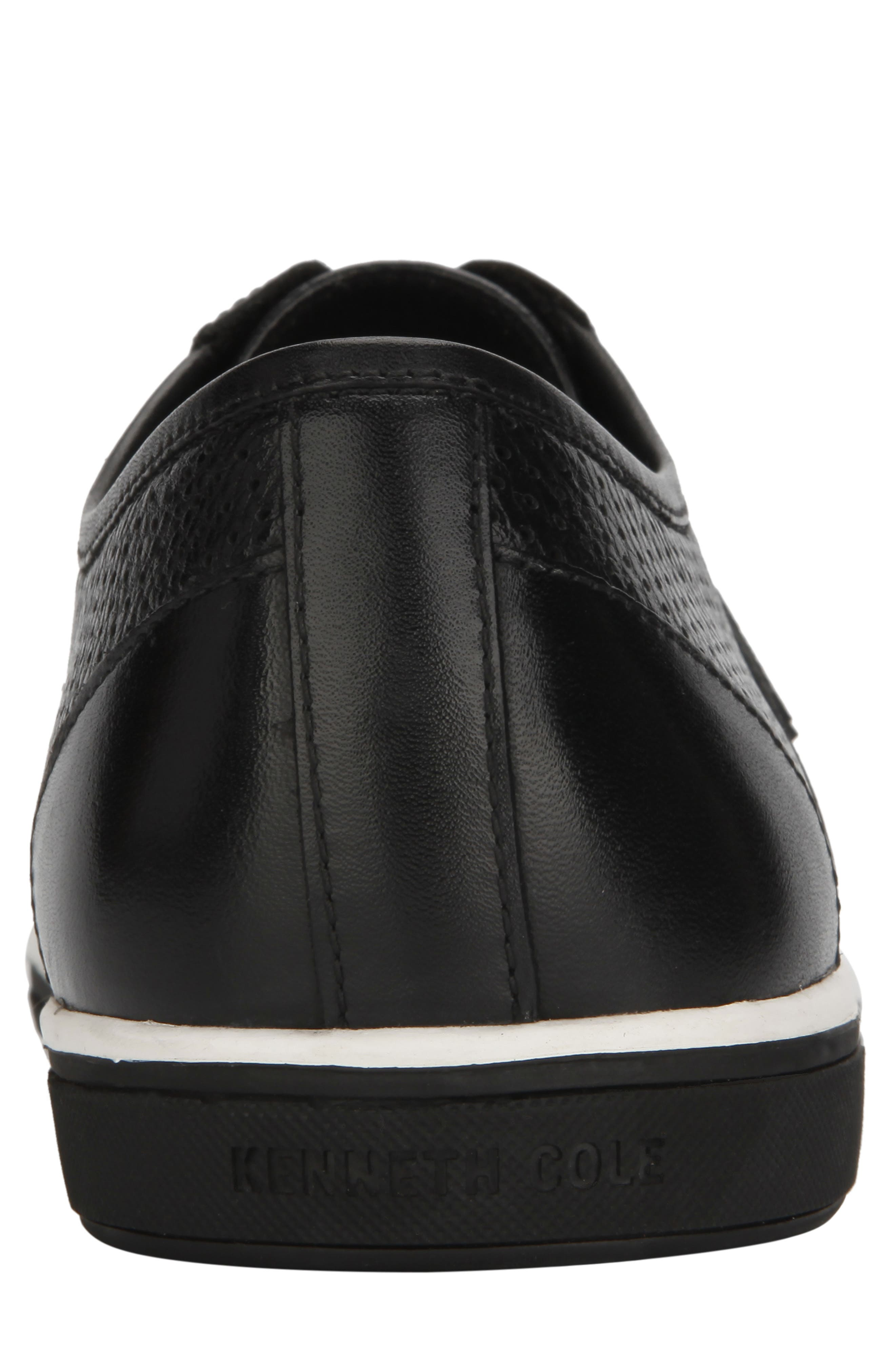KENNETH COLE NEW YORK, Initial Step Sneaker, Alternate thumbnail 5, color, BLACK LEATHER