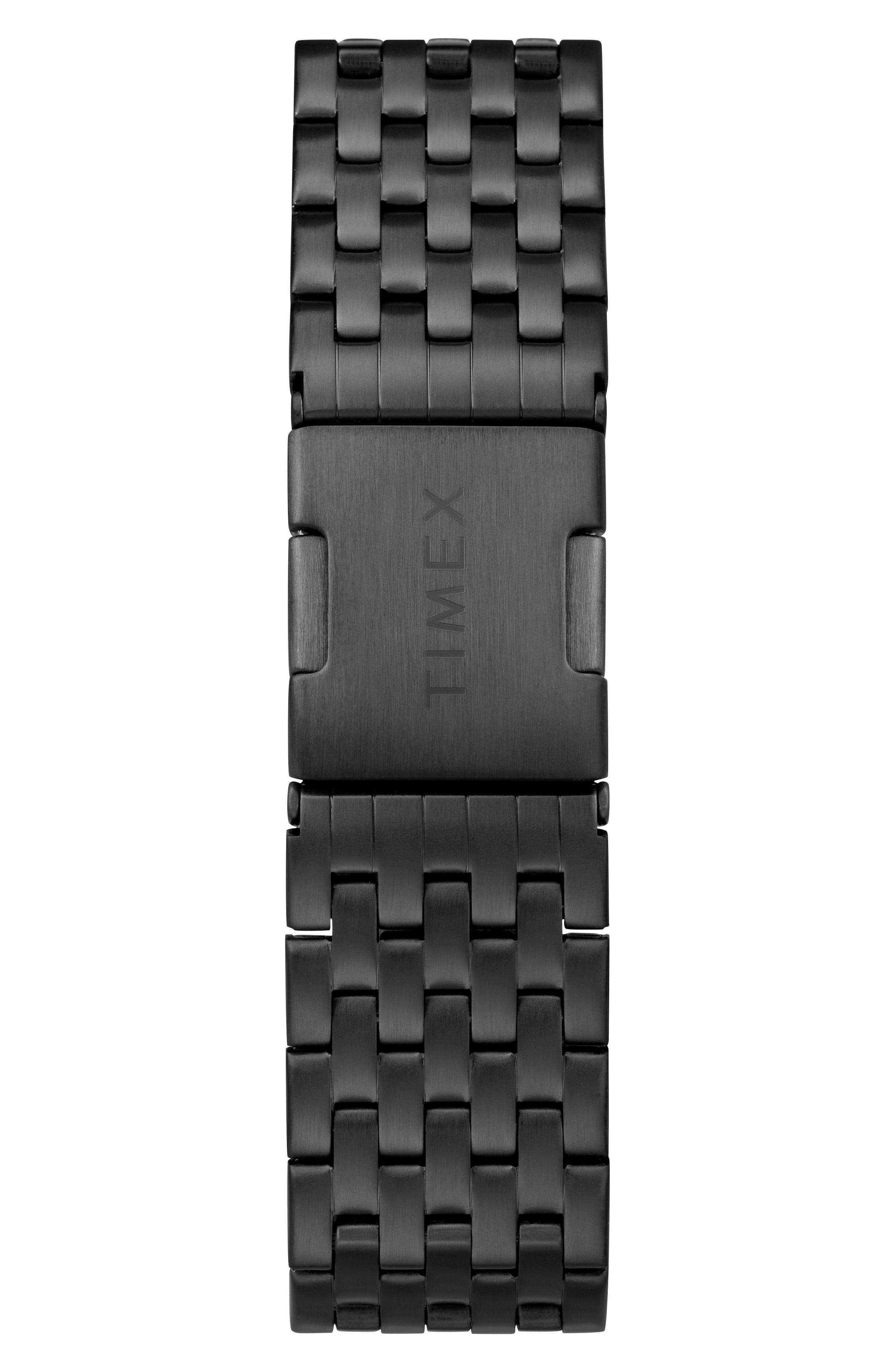 TIMEX<SUP>®</SUP>, Waterbury Chronograph Bracelet Watch, 40mm, Alternate thumbnail 2, color, BLACK