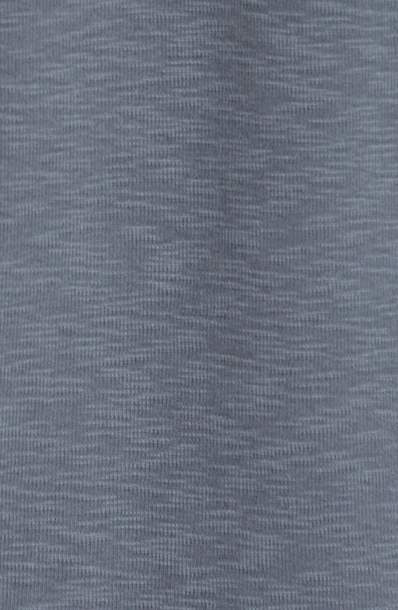 WINGS + HORNS, Ribbed Slub Cotton T-Shirt, Alternate thumbnail 5, color, SHADOW