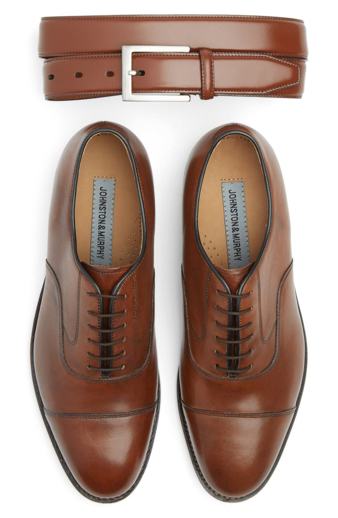 JOHNSTON & MURPHY, 'Melton' Oxford, Alternate thumbnail 2, color, TAN