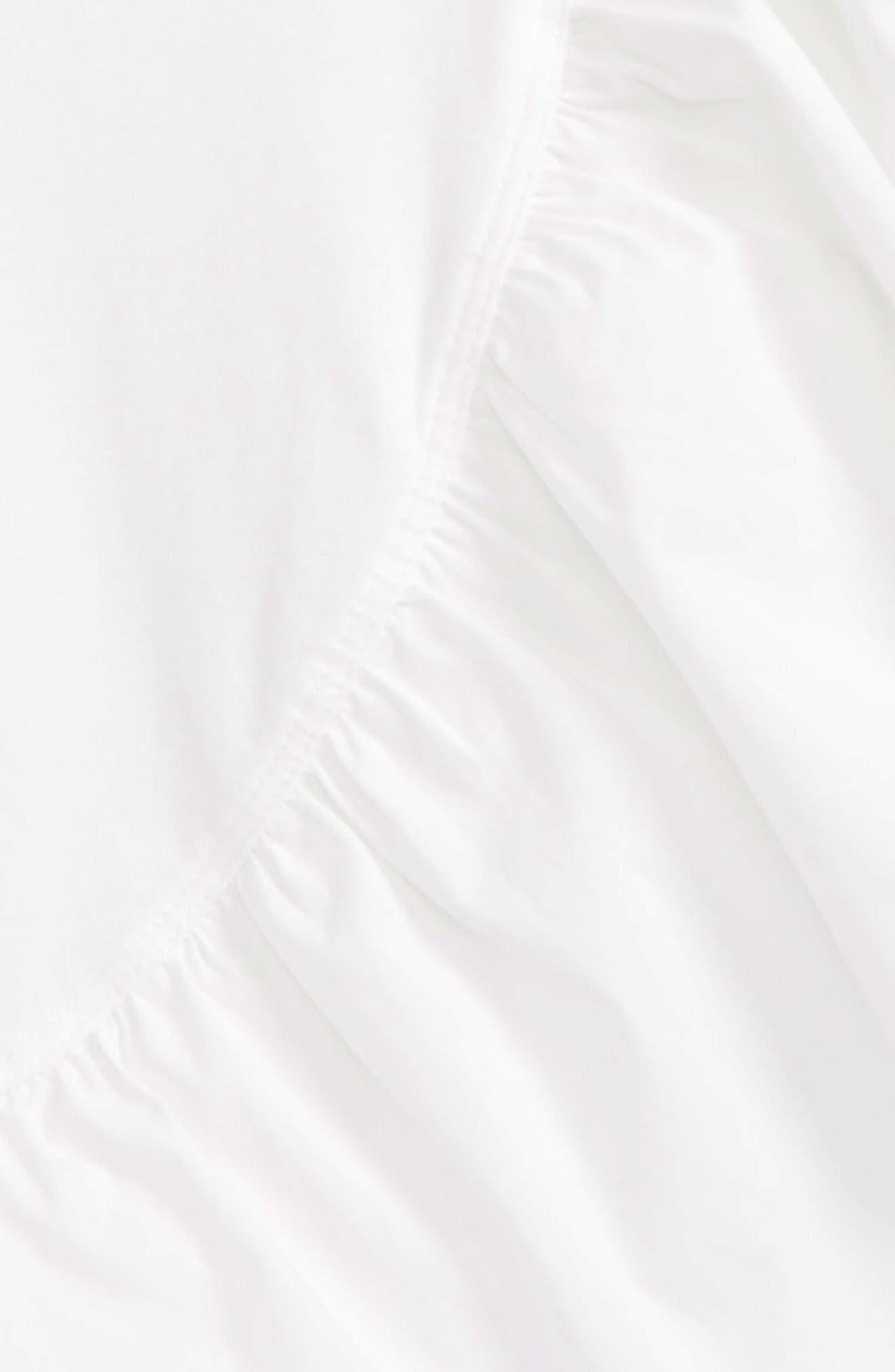 HABITUAL GIRL, Cilla Asymmetrical Ruffle Top, Alternate thumbnail 2, color, WHITE