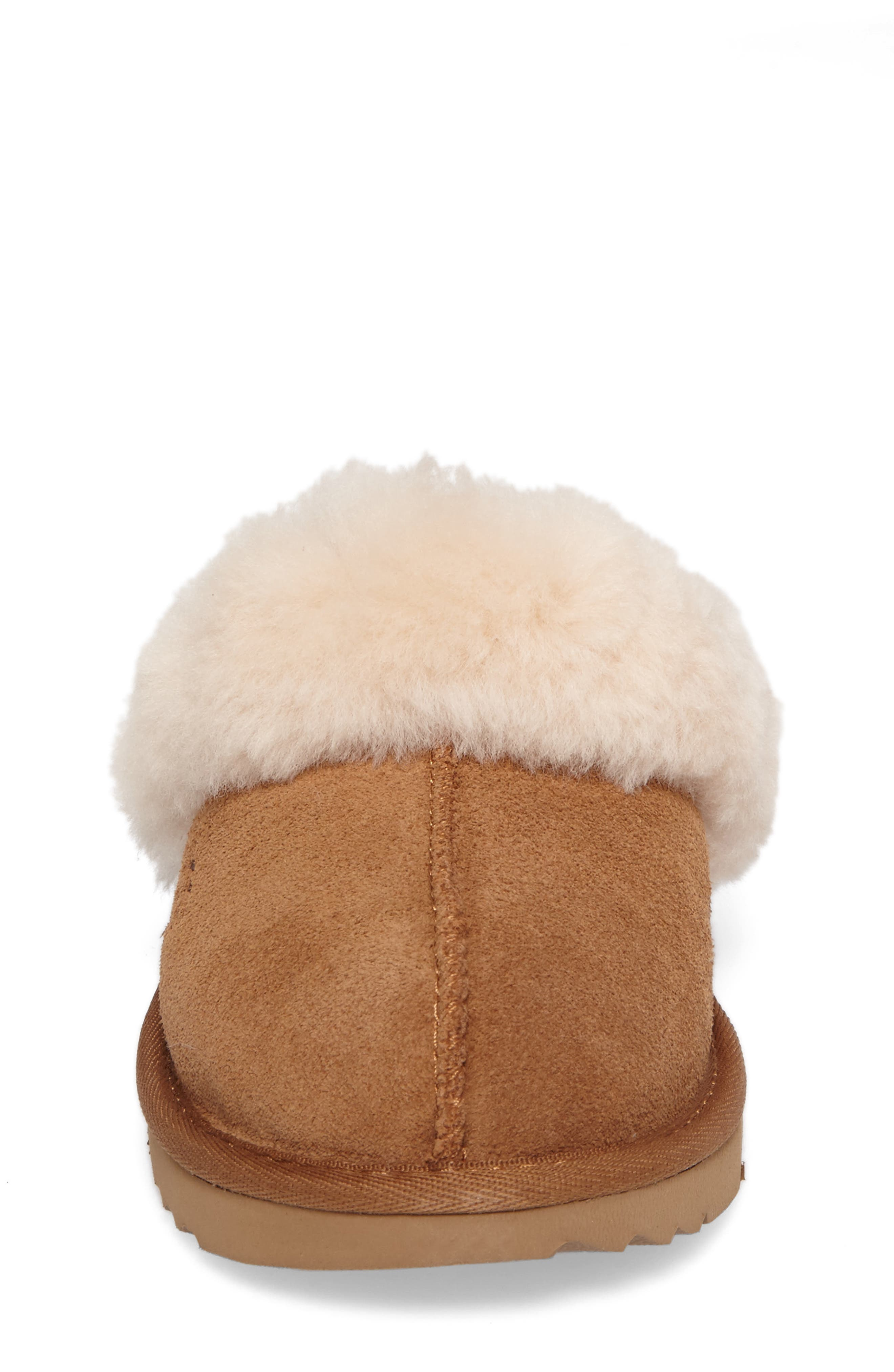 UGG<SUP>®</SUP>, Cozy II Scuff Slipper, Alternate thumbnail 4, color, CHESTNUT