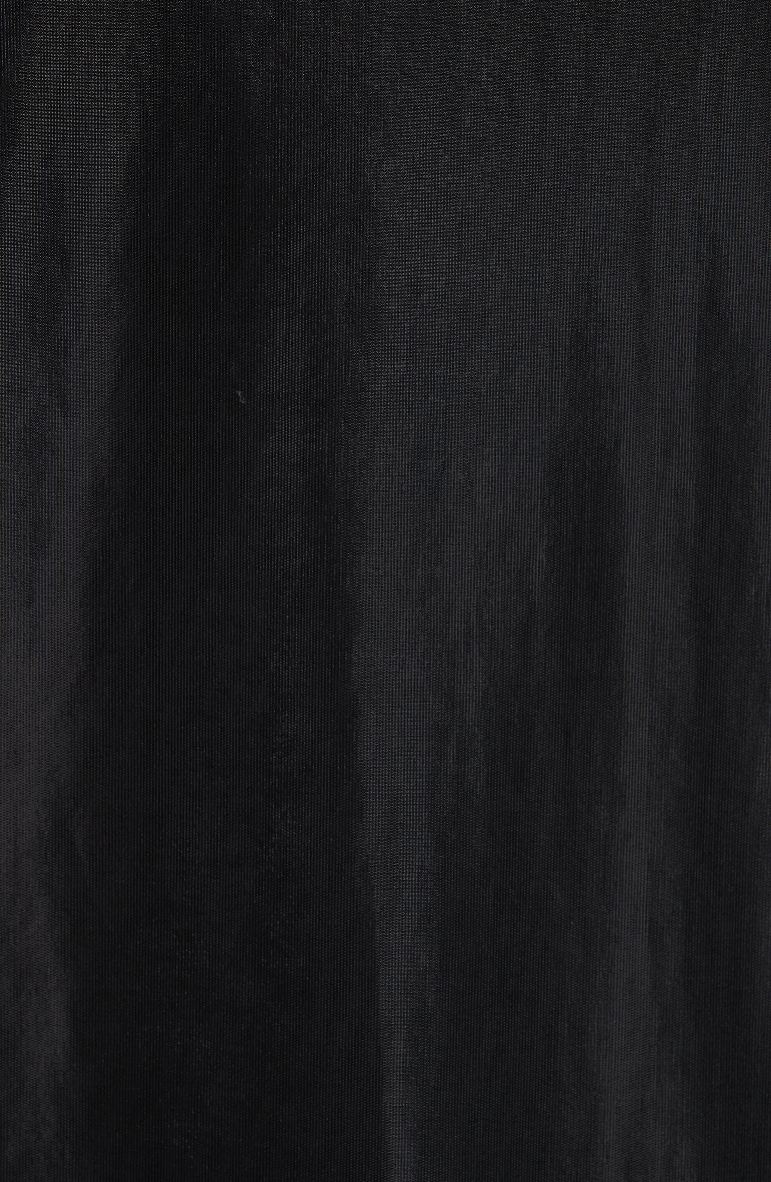 HELMUT LANG, Overlay Long Sleeve T-Shirt, Alternate thumbnail 5, color, BLACK