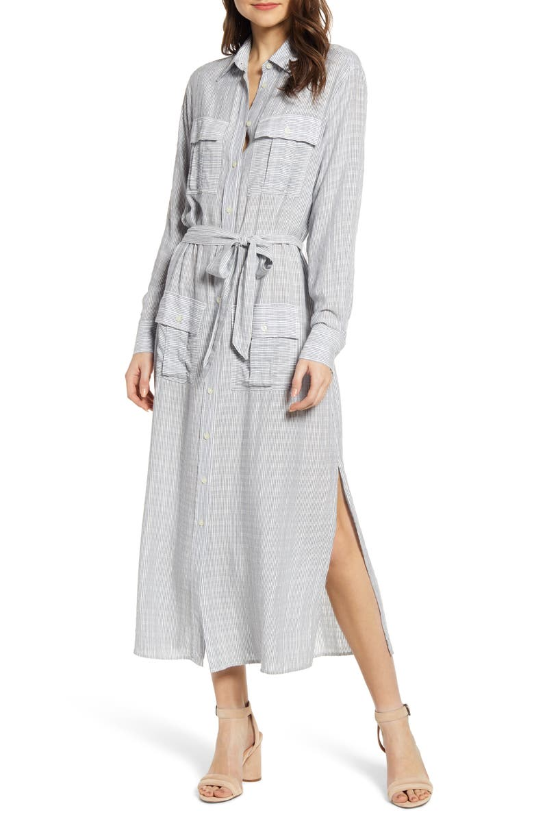 Current Elliott Dresses THE ANA LONG SLEEVE MAXI DRESS