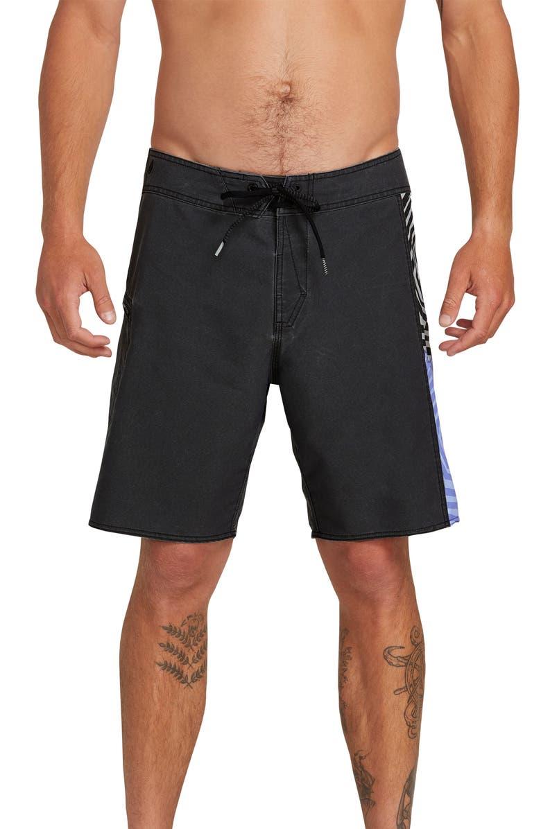 20651674d6565 VOLCOM Family Deadly Mod Board Shorts, Main, color, BLACK