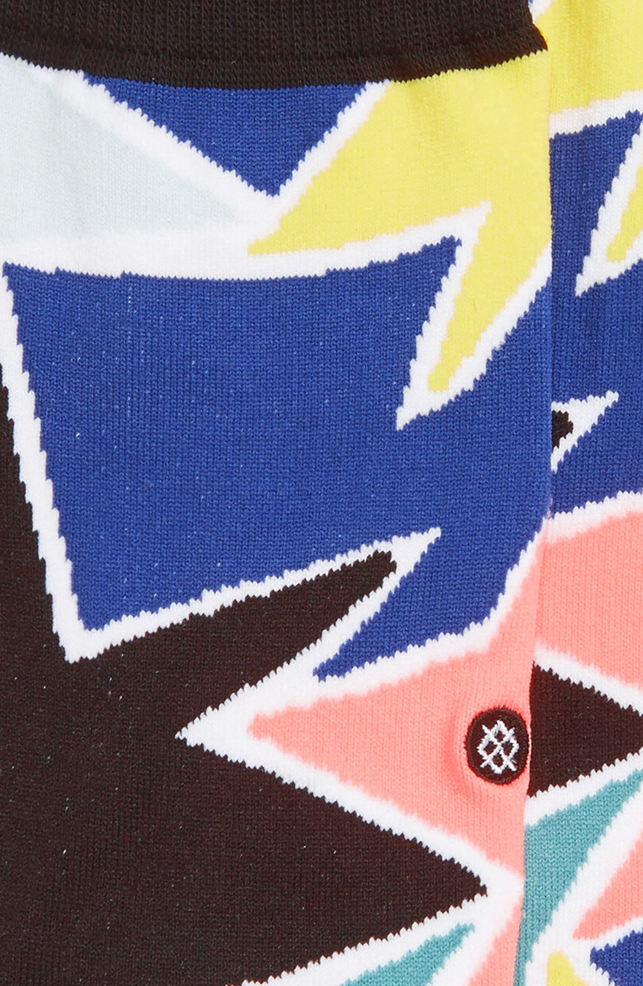 STANCE, Star Struck Crew Socks, Alternate thumbnail 2, color, BLUE