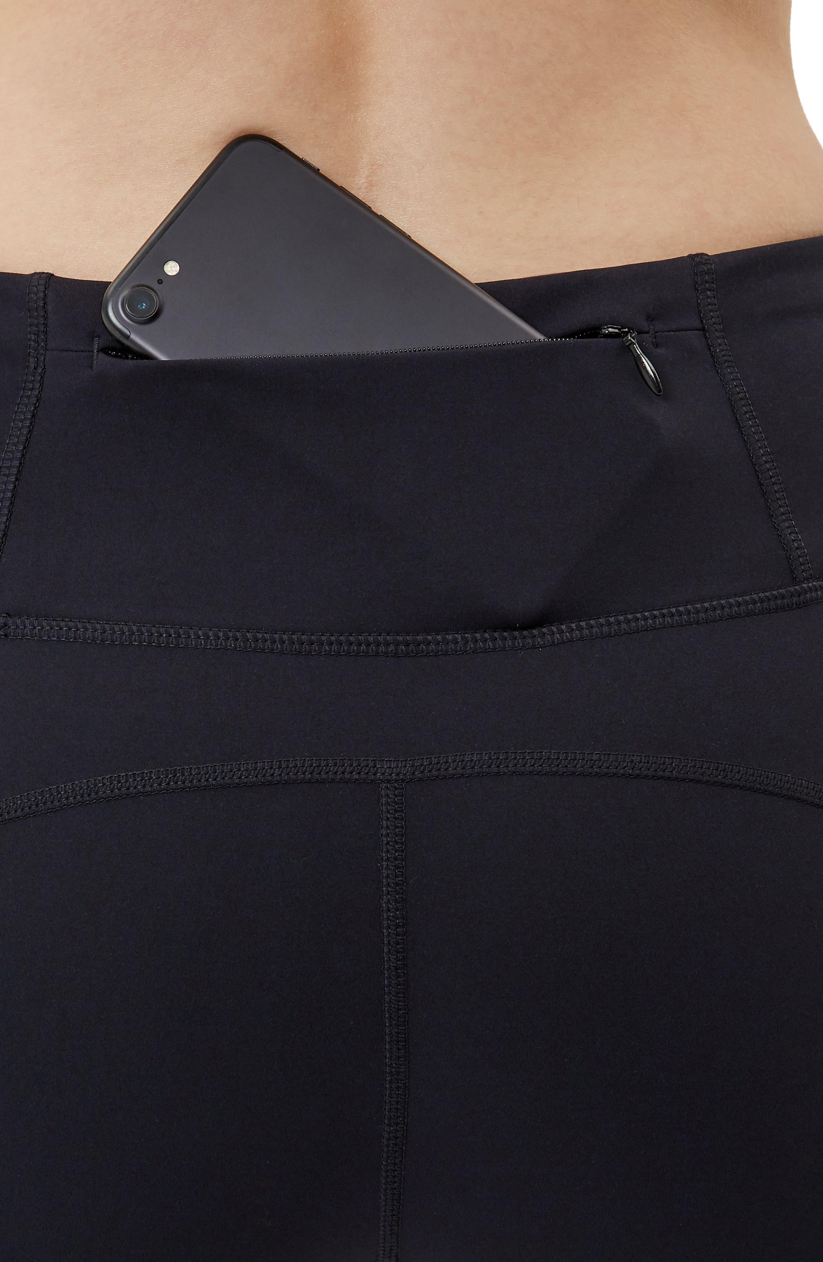 SWEATY BETTY, Power Workout Crop Leggings, Alternate thumbnail 6, color, BLACK
