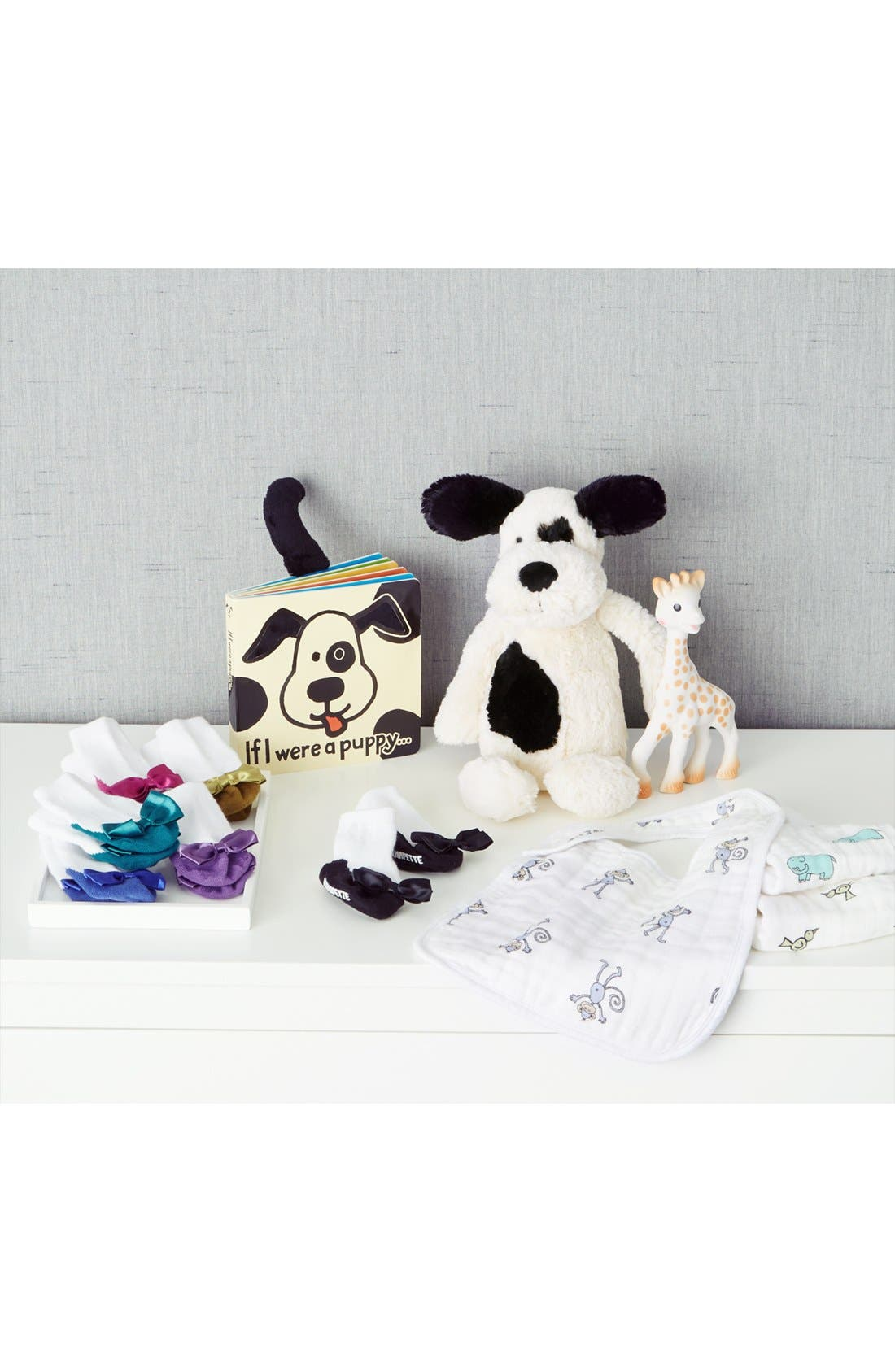 JELLYCAT, 'Dog Soother' Blanket, Alternate thumbnail 3, color, BLACK AND CREAM